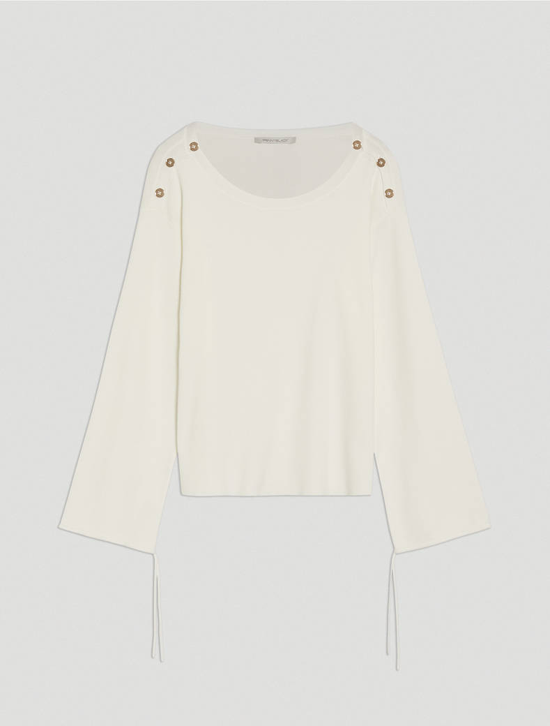 Jumper with buttons and drawstring - ivory - pennyblack