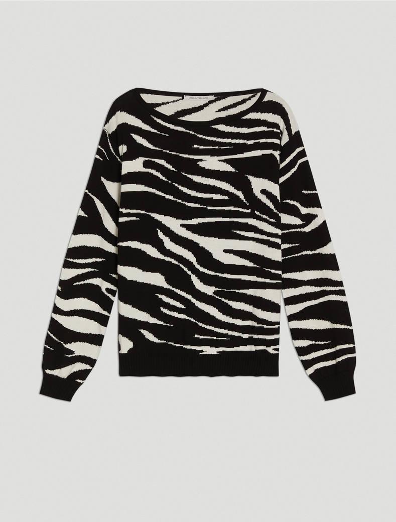 Jacquard zebra jumper - black - pennyblack
