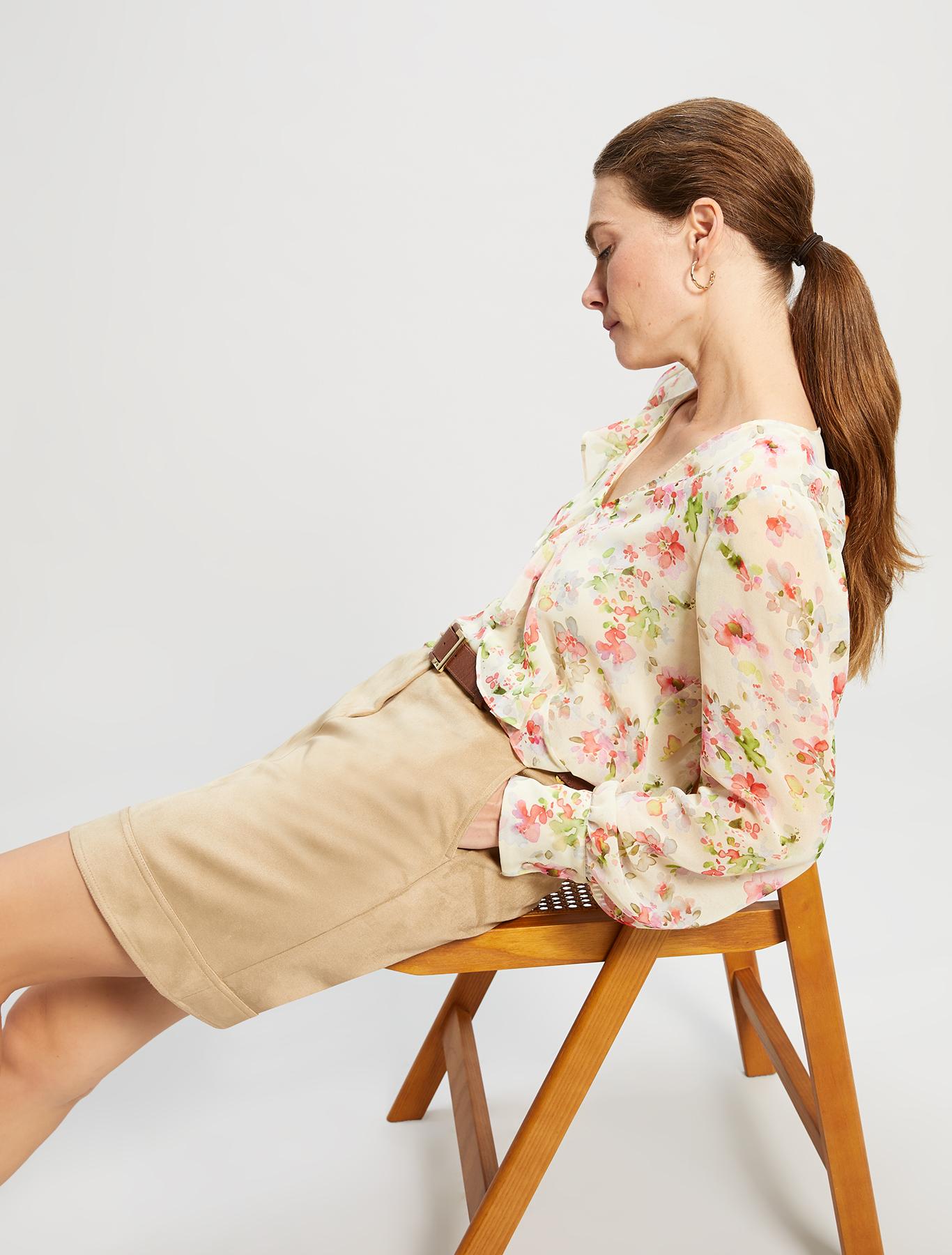 Jersey suede skirt - beige - pennyblack