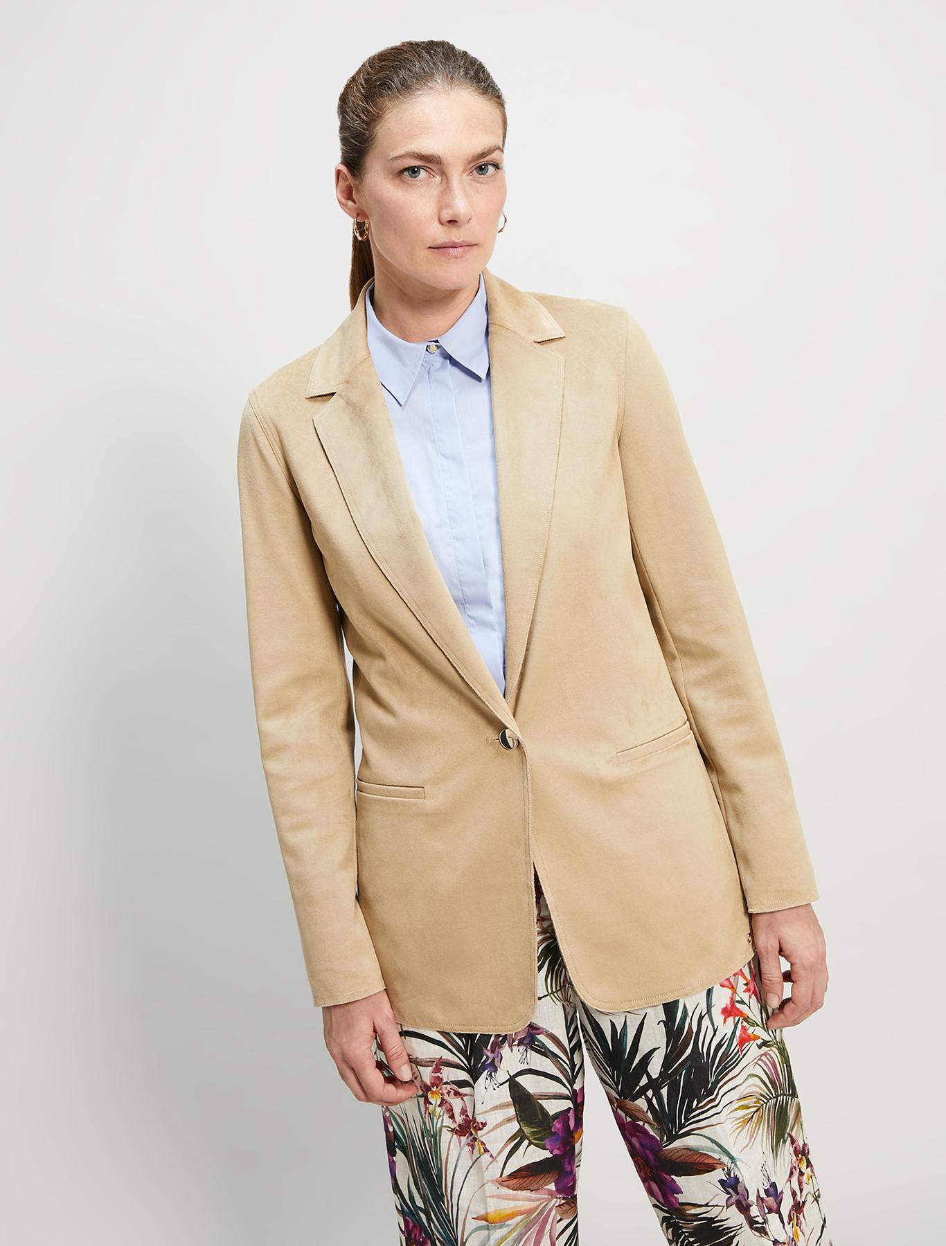Blazer in jersey suede - beige - pennyblack