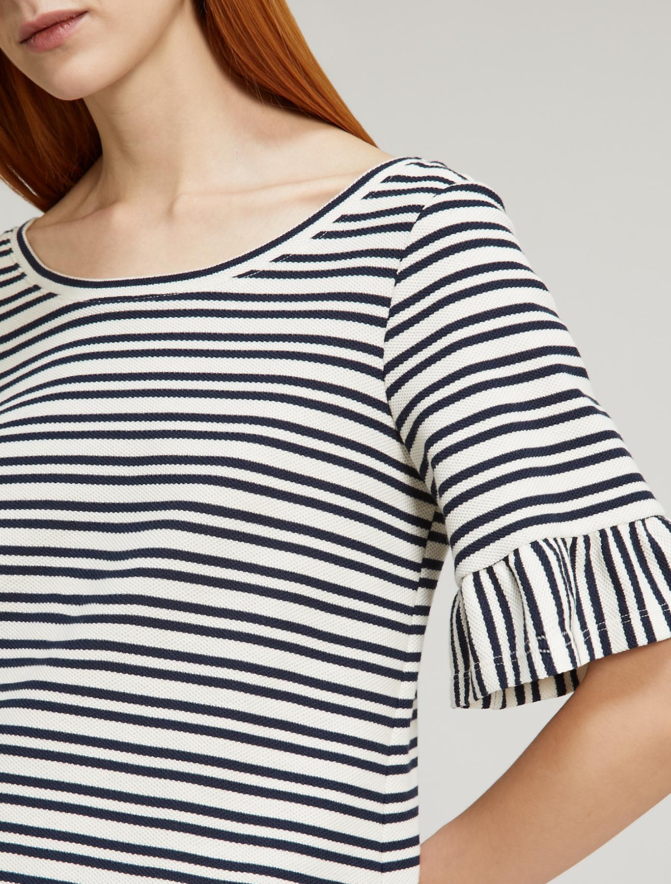 Piqué jersey T-shirt - navy blue pattern - pennyblack