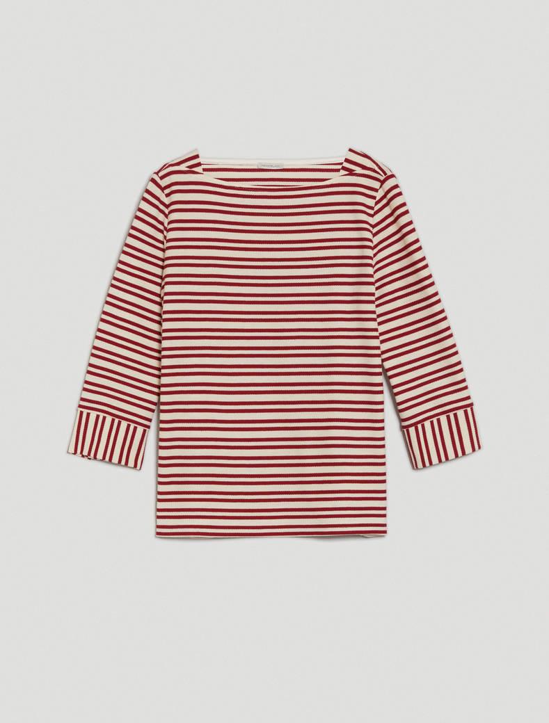 Marinière in jersey piqué - fantasia rosso - pennyblack