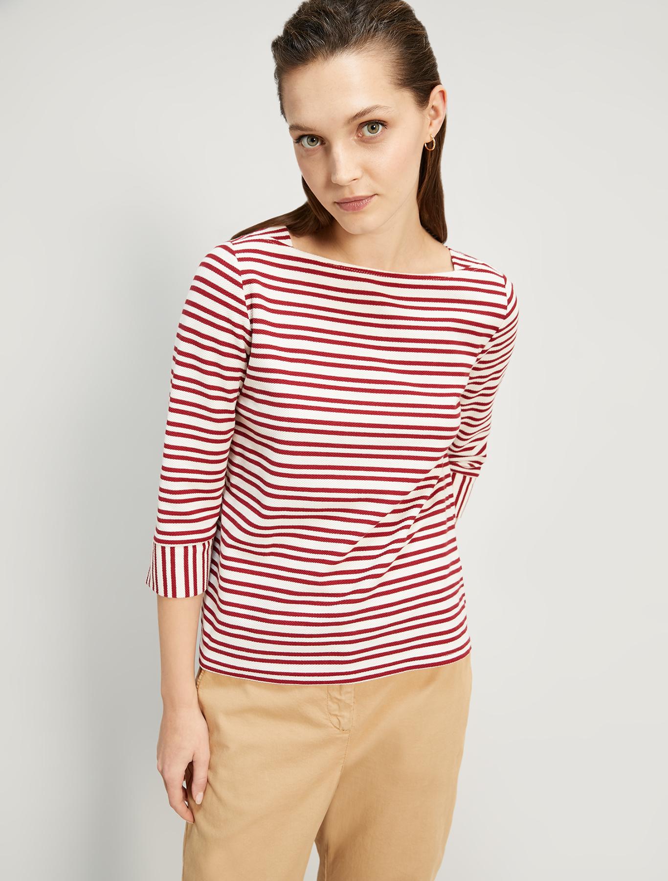 Marinière in piqué jersey - red pattern - pennyblack