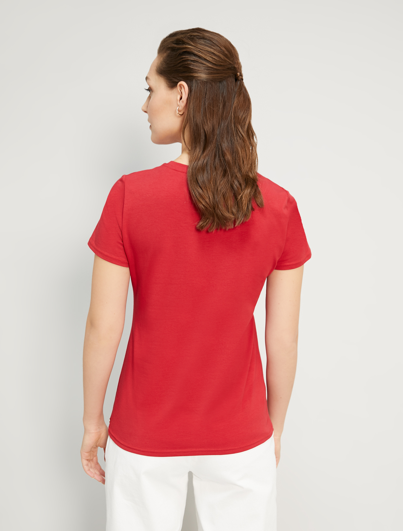 Cotton T-shirt with print - red - pennyblack