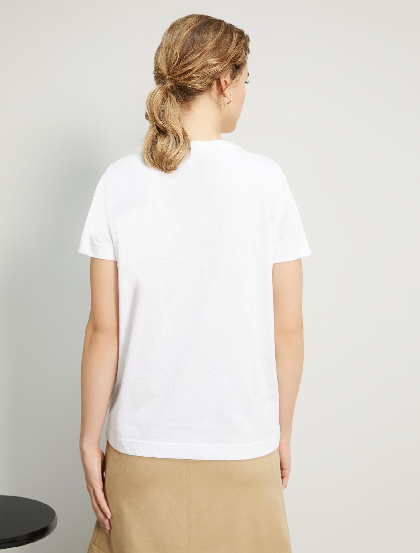 Embroidered sequin T-shirt - ivory - pennyblack