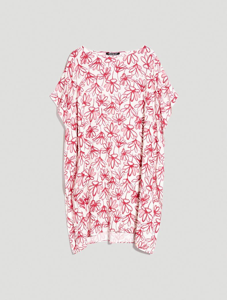 Floral design kaftan - burgundy pattern - pennyblack