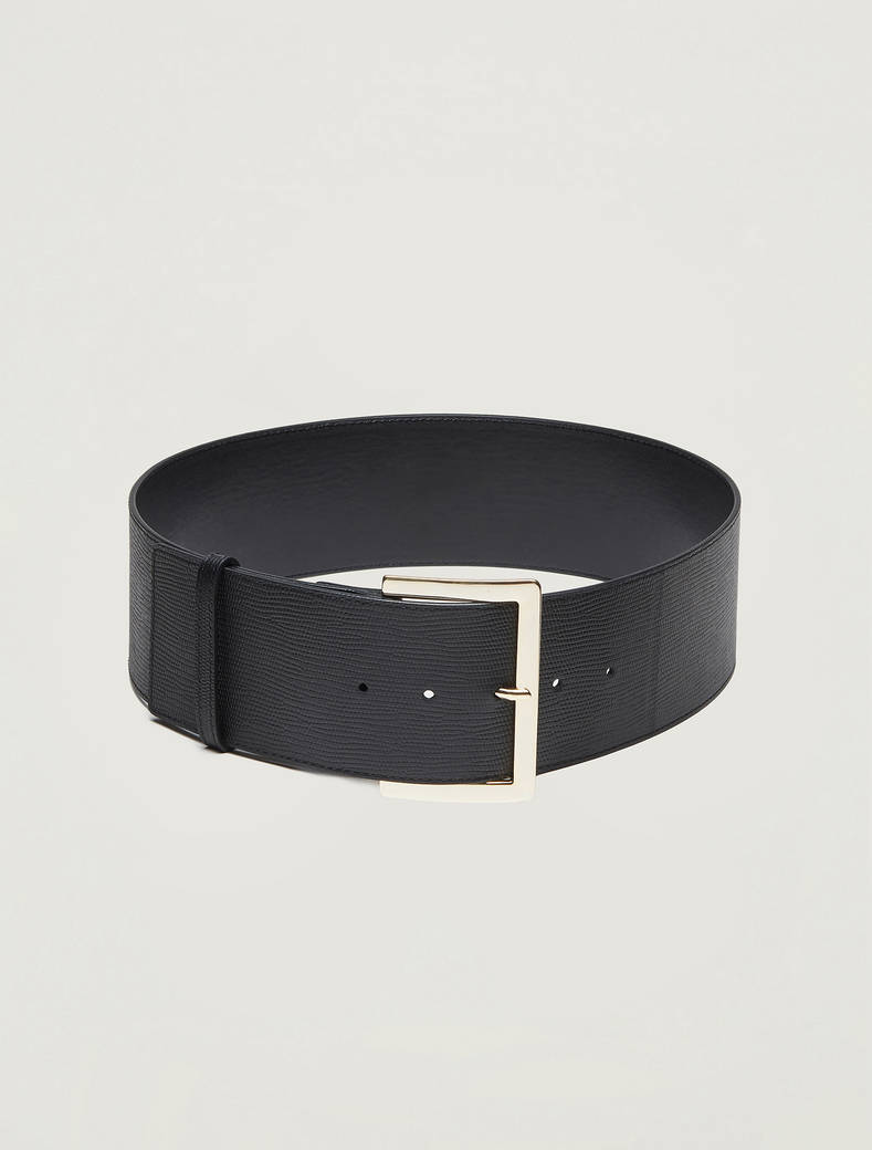 Cintura alta in pelle - nero - pennyblack