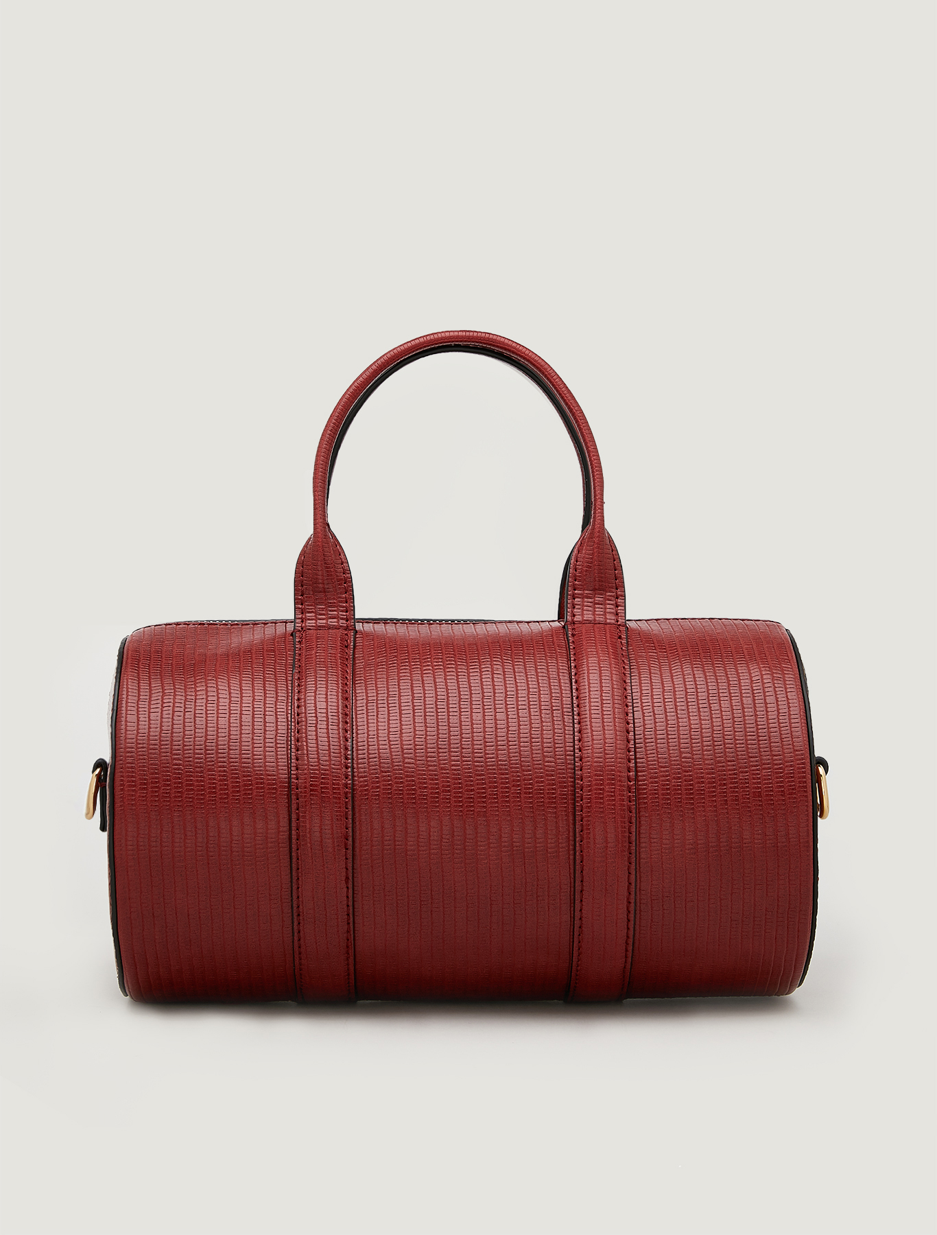 Barrel bag with lizard print - rust - pennyblack