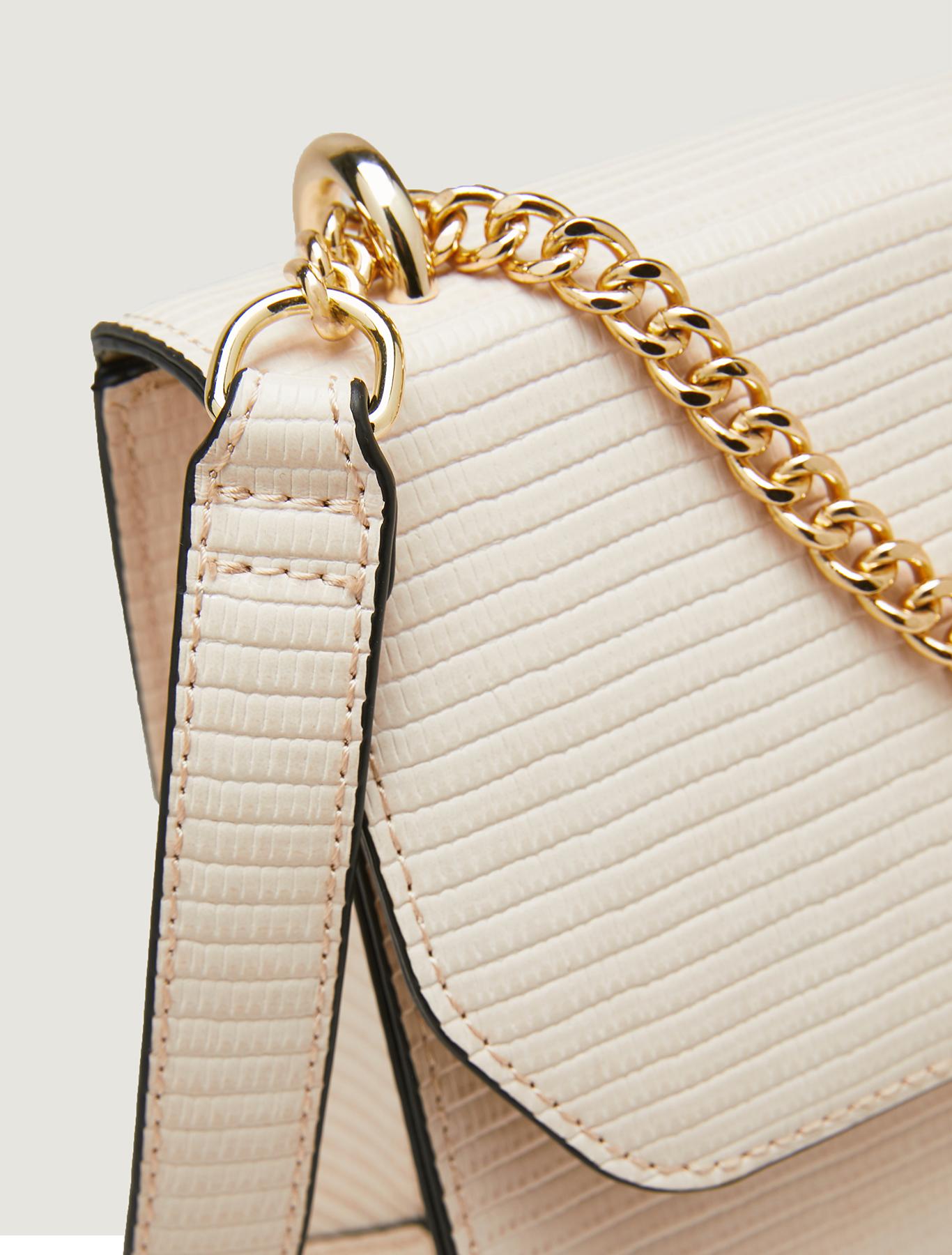 Lizard-print chain bag - beige - pennyblack