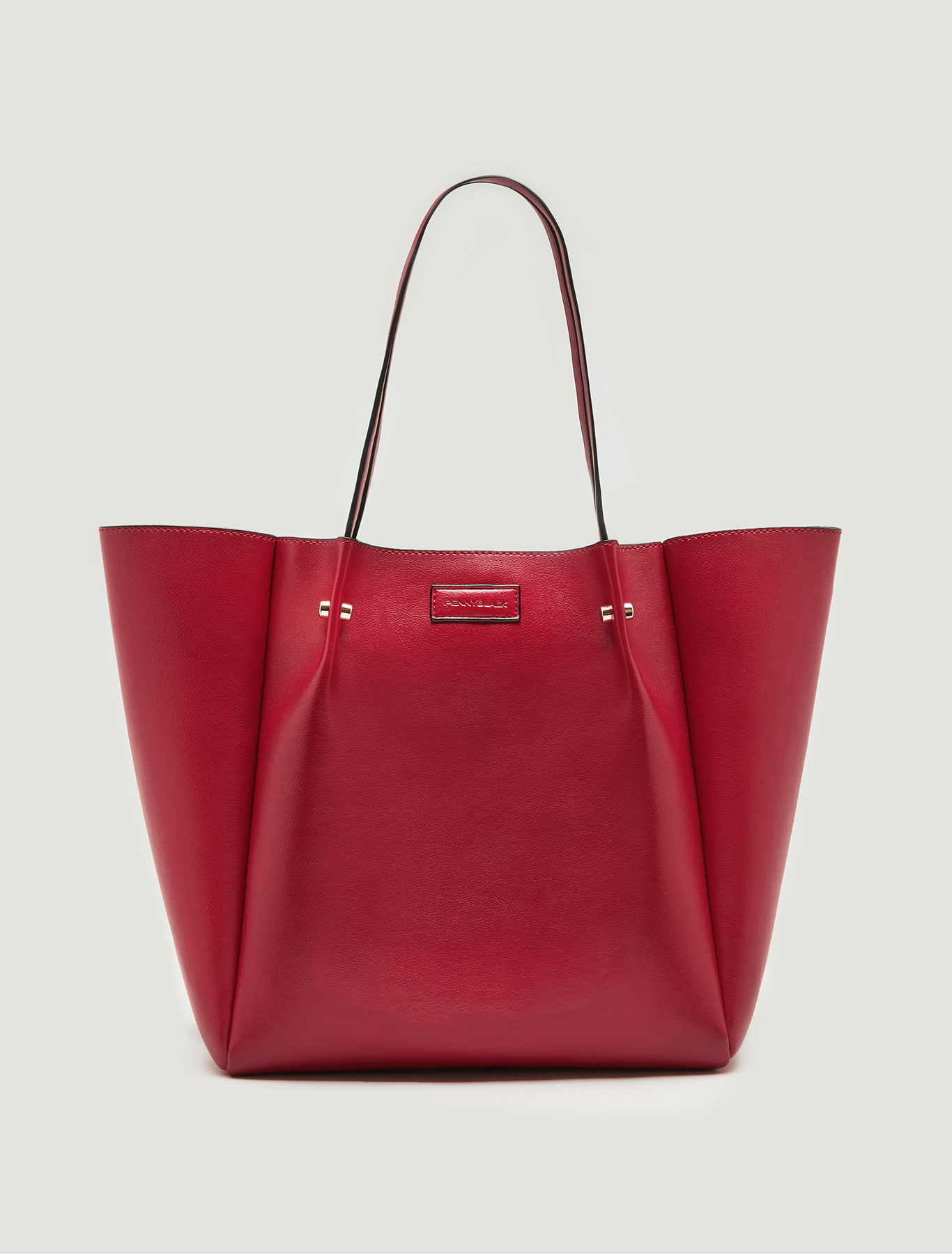 Shopper bag with matching clutch - red - pennyblack