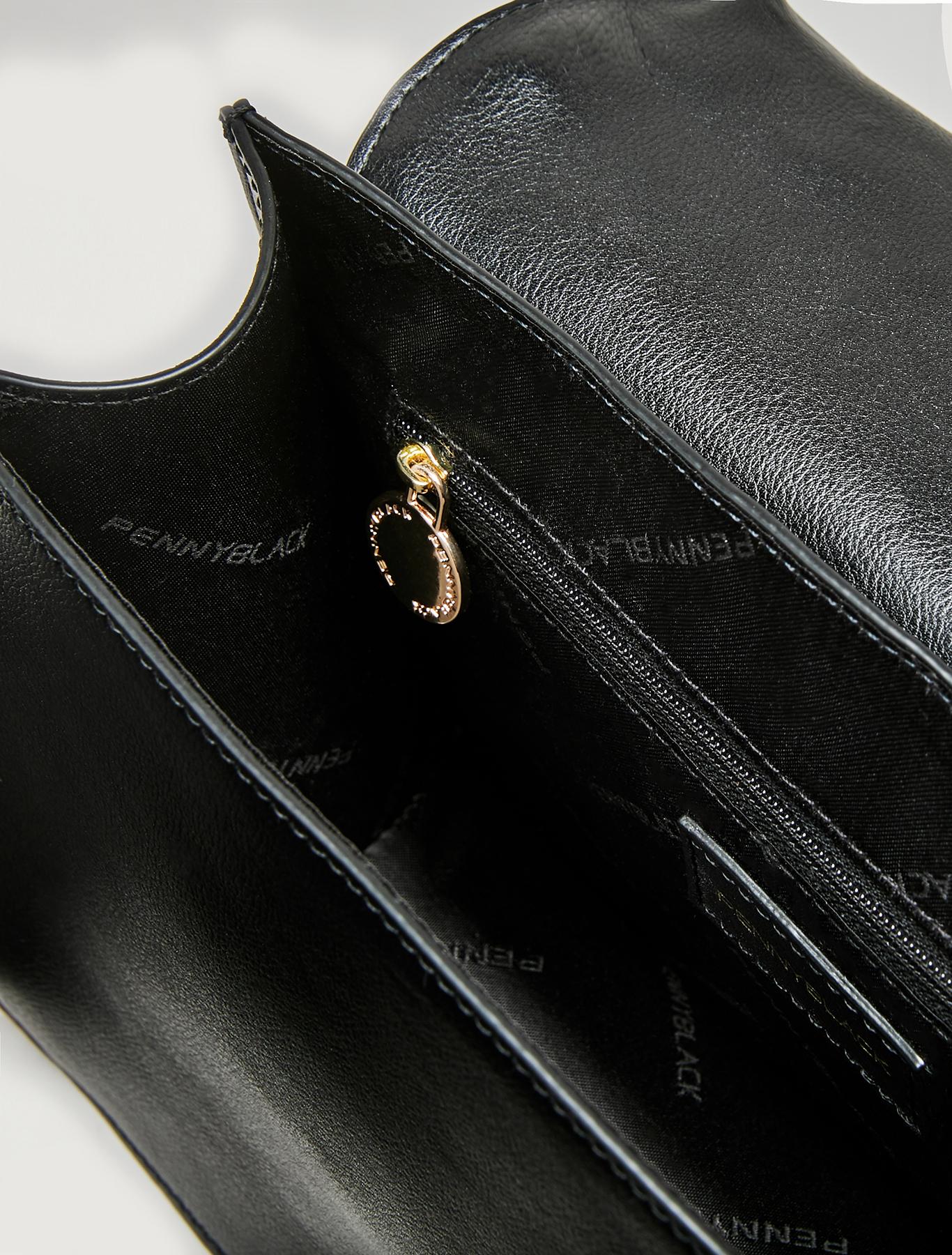 Woven shoulder bag - black - pennyblack