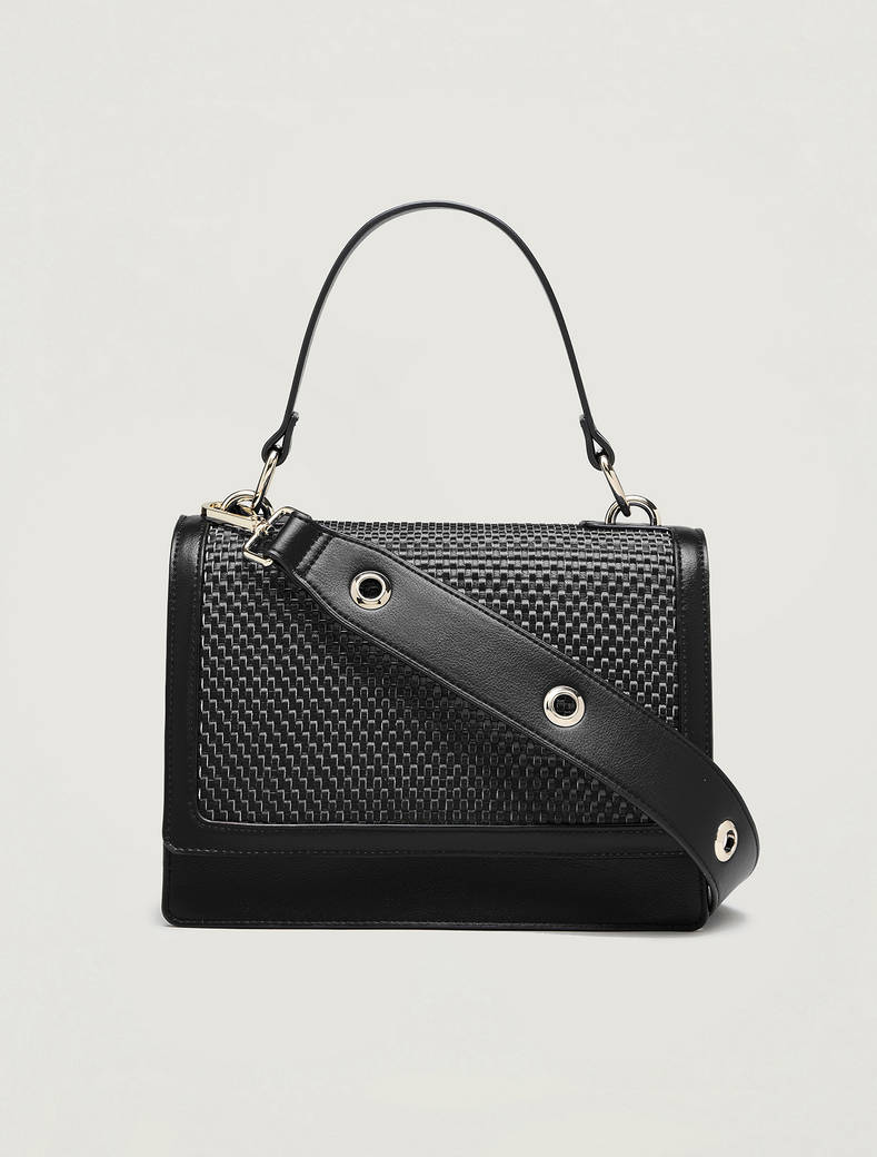 Woven shoulder bag - black - pennyblack