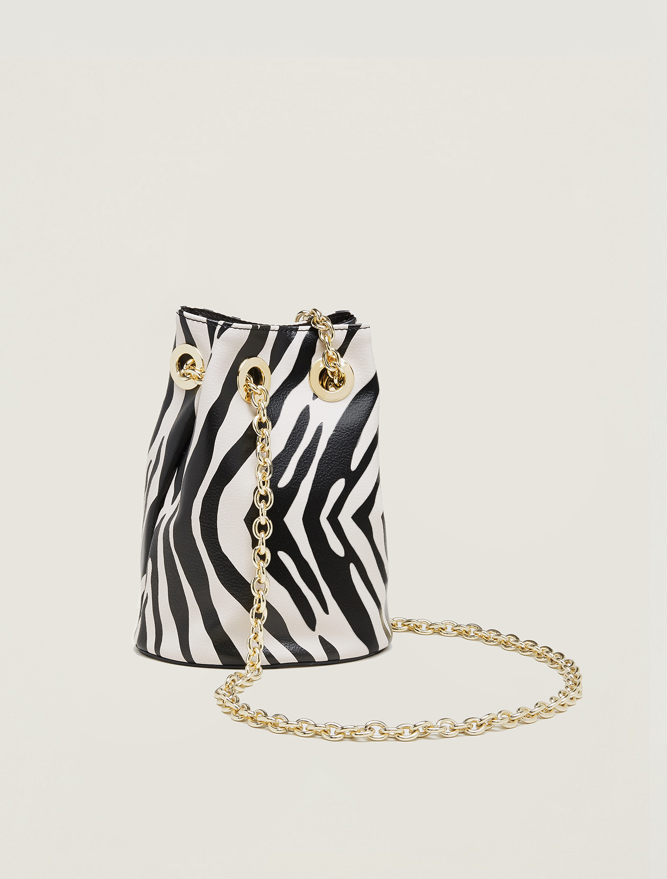 Animal print bucket bag - black - pennyblack