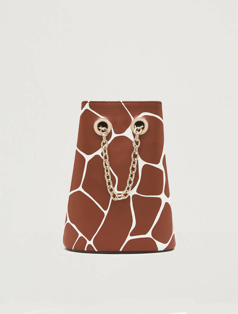 Animal print bucket bag - brown - pennyblack