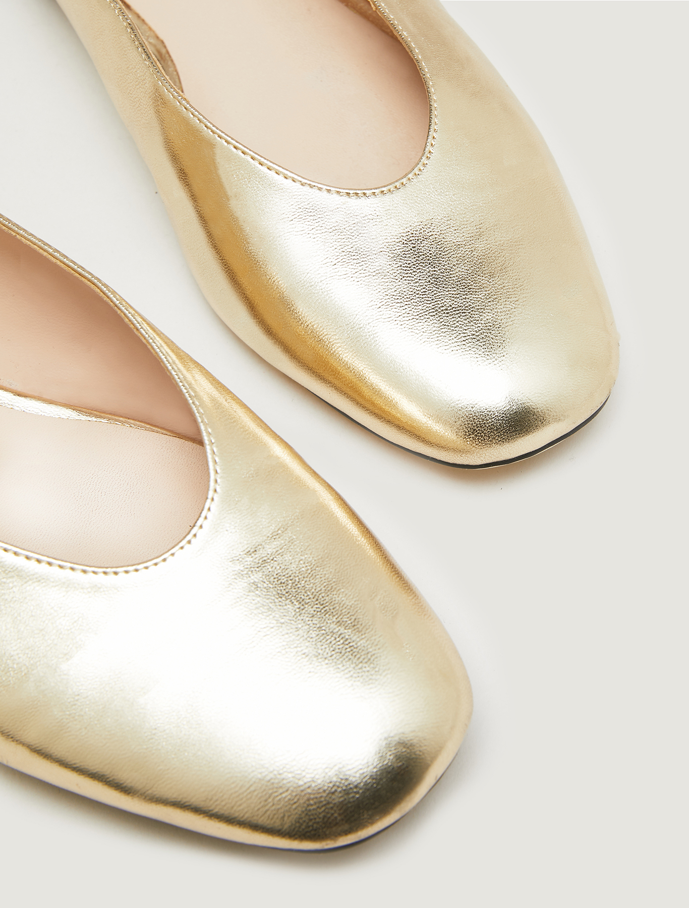 Metallic mules with laces - gold - pennyblack