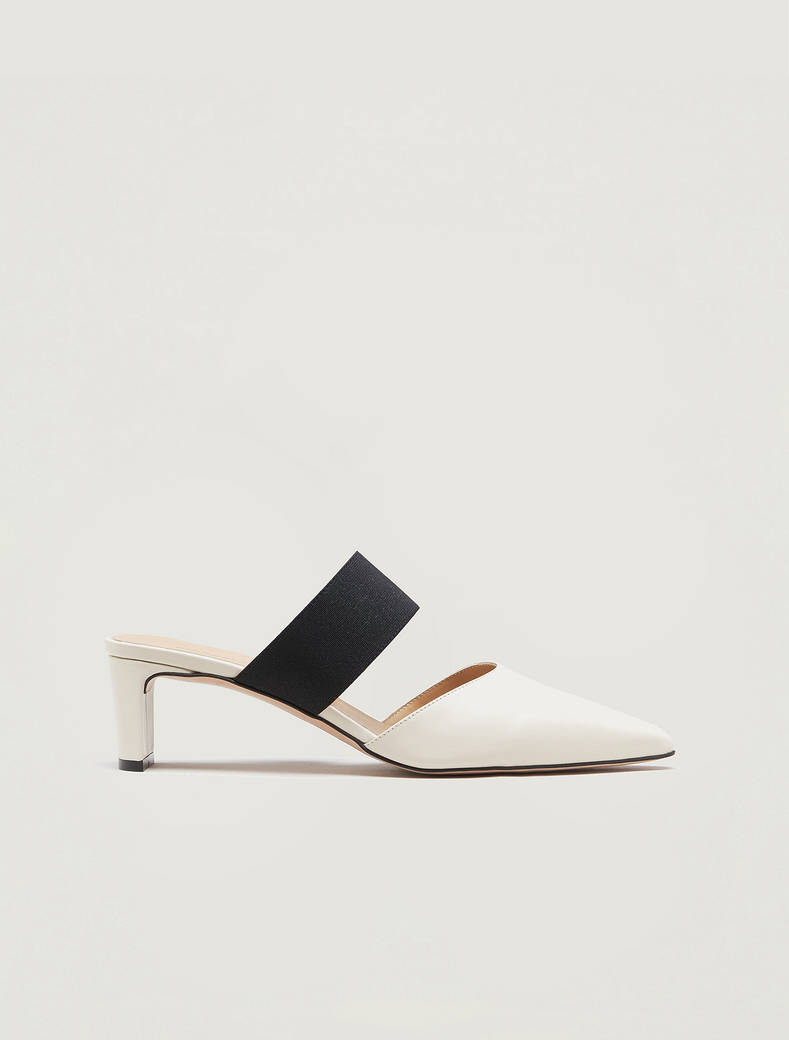 Leather mules - beige - pennyblack