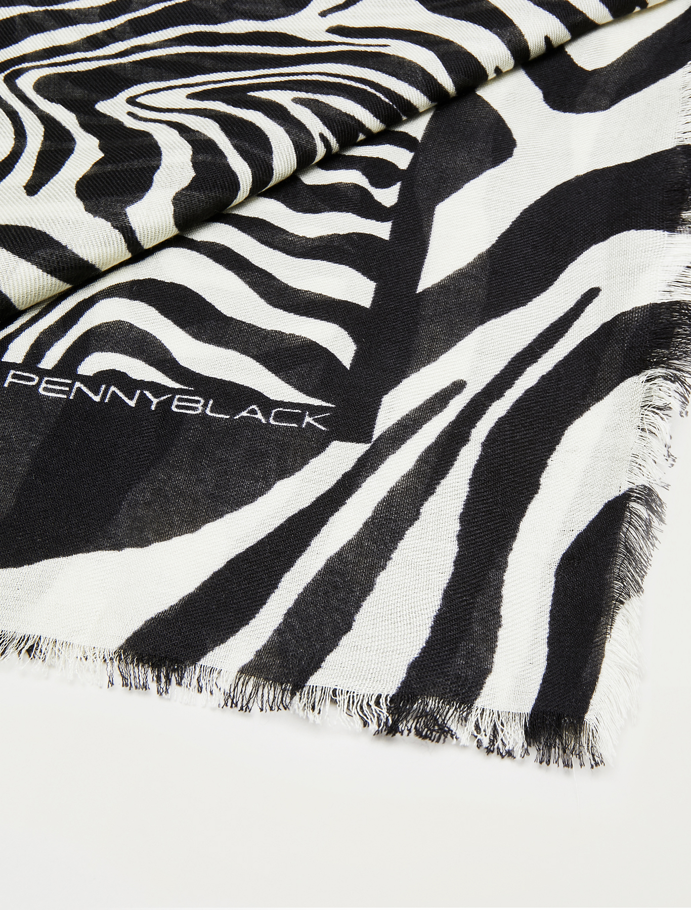 Printed stole - black - pennyblack