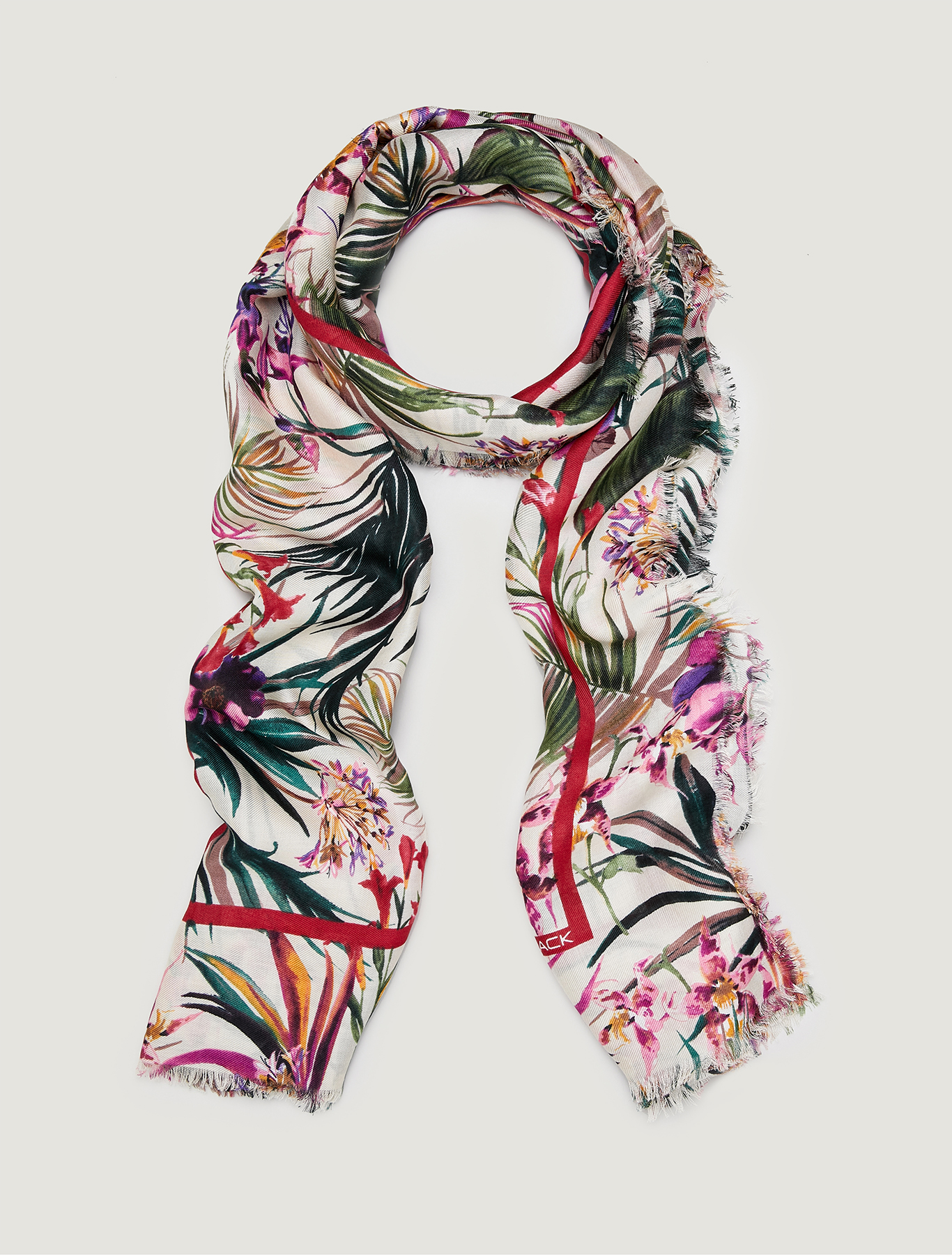 Printed stole - white - pennyblack