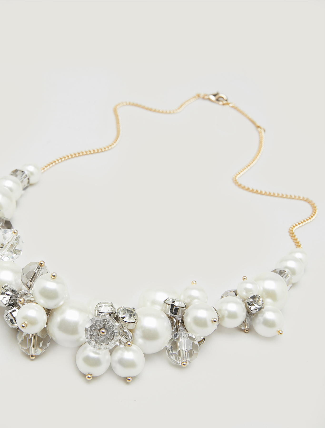 Necklace with boule clusters - white - pennyblack