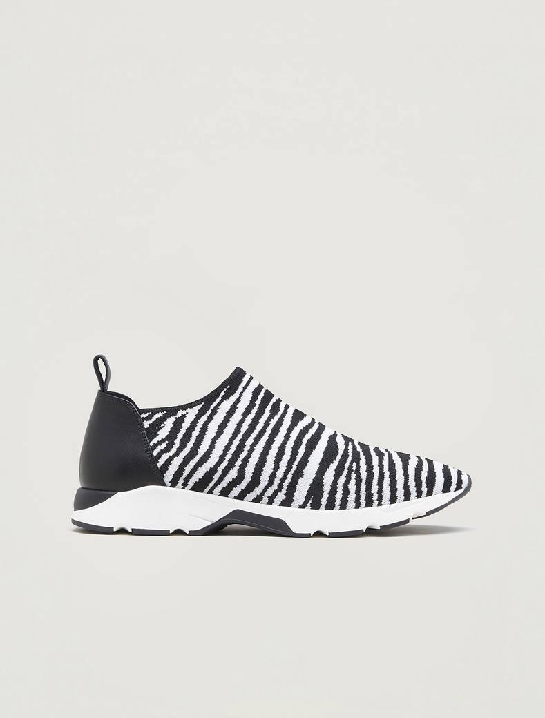 Sneakers in tecno-maglia zebrata - nero - pennyblack
