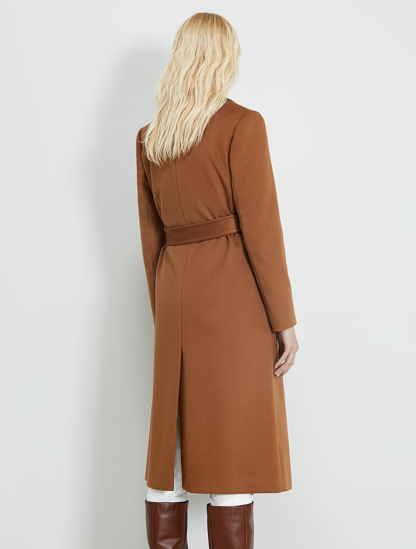 Wool drap midi coat - rust - pennyblack