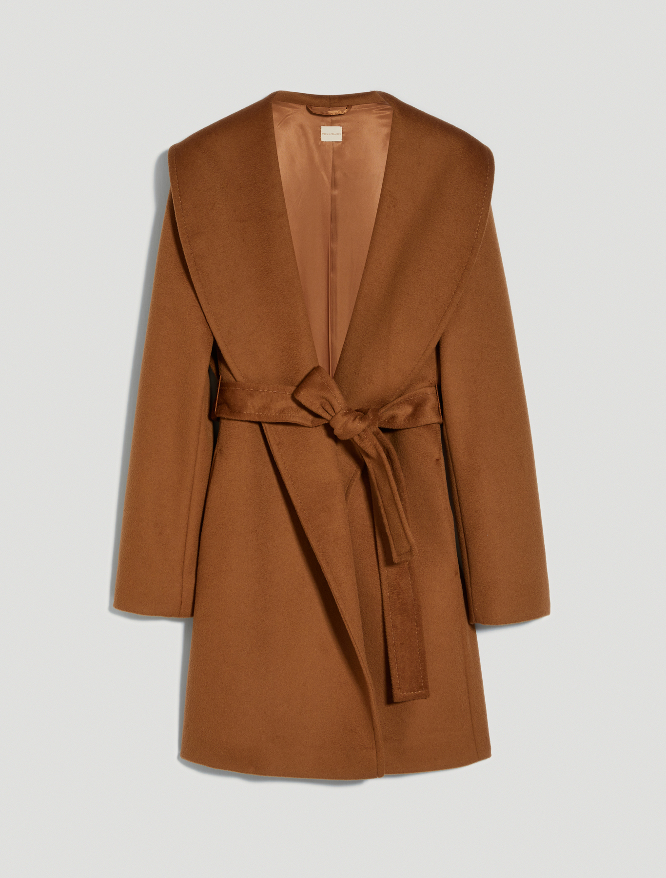 Short coat in wool drap - rust - pennyblack
