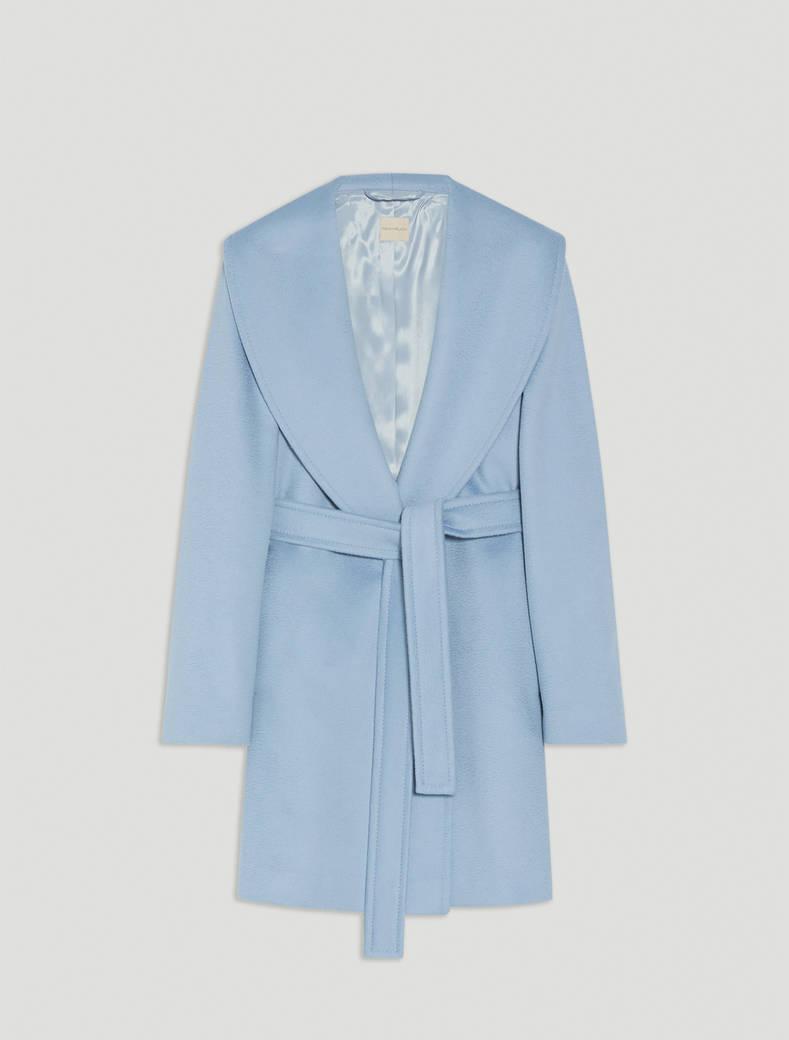 Short coat in wool drap - light blue - pennyblack