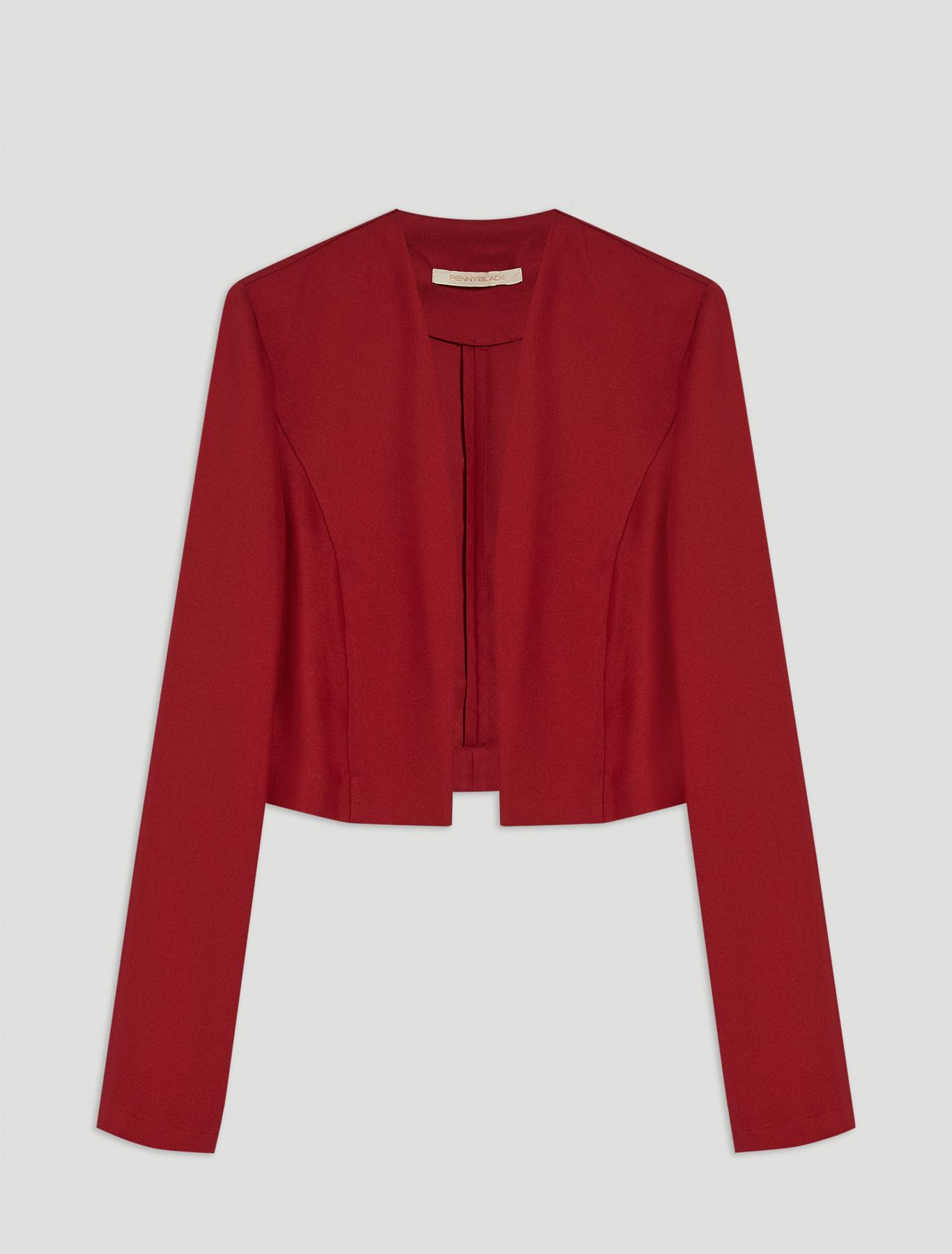 Cady bolero jacket - burgundy - pennyblack