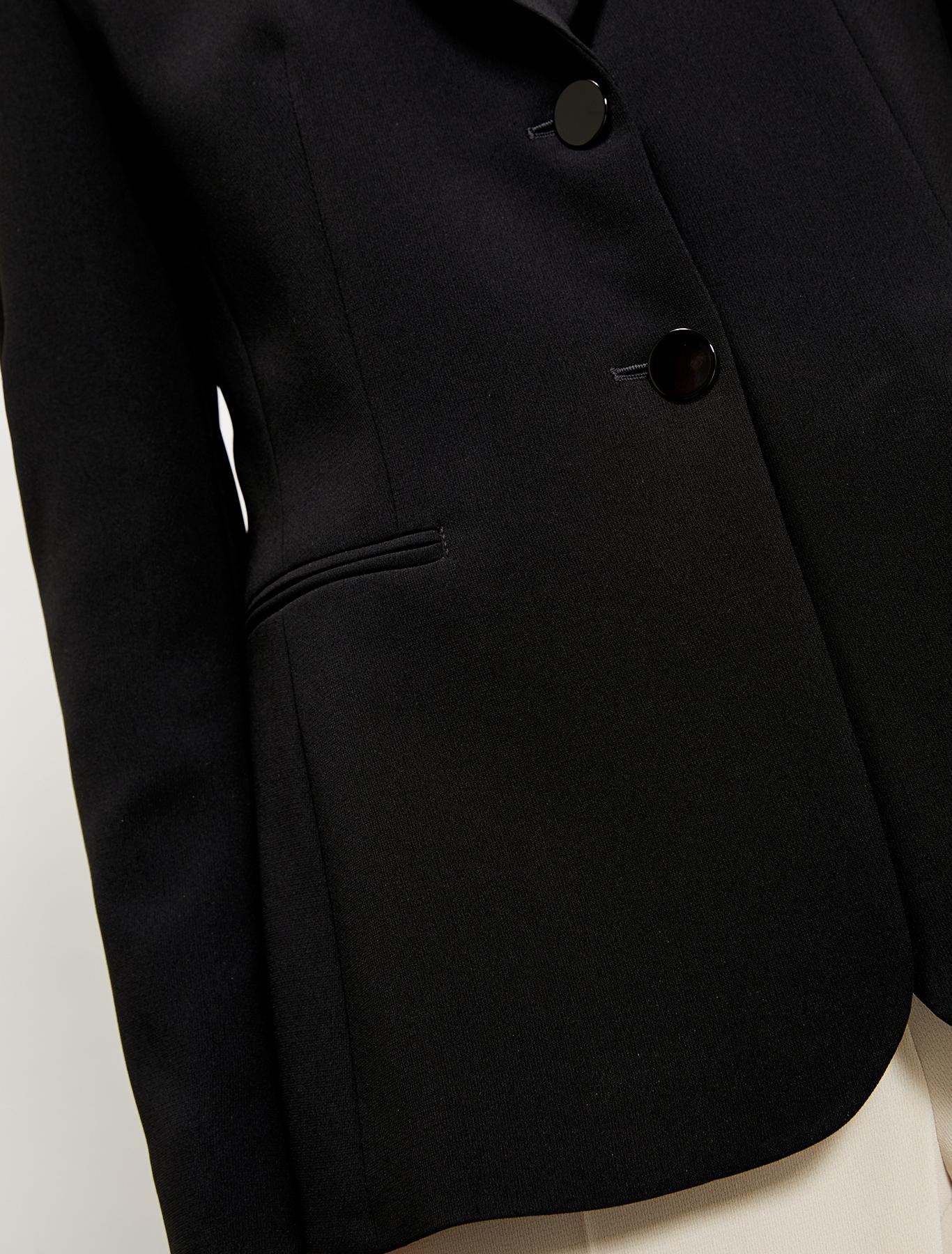 Blazer in flowing fabric - black - pennyblack