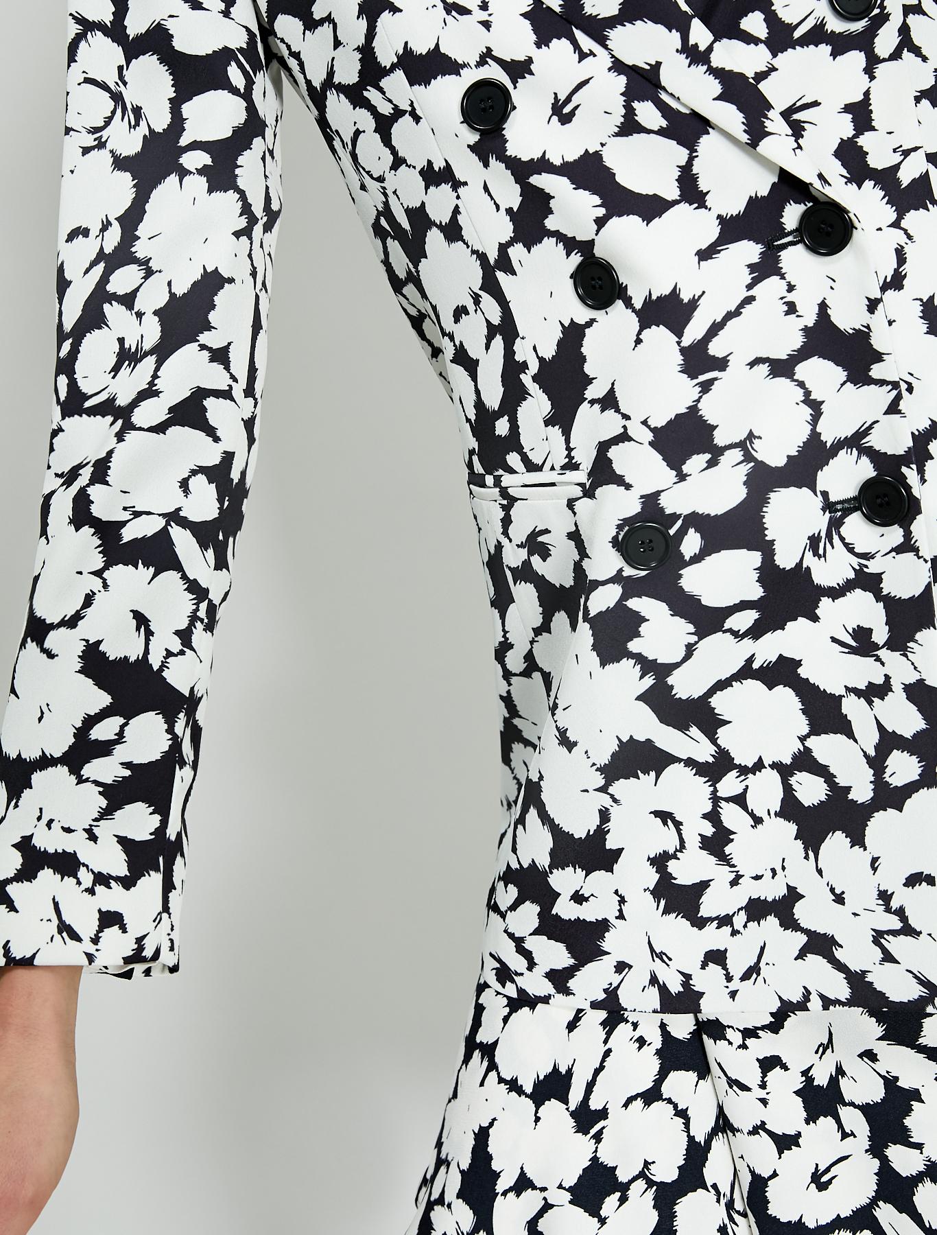 Envers satin blazer - black pattern - pennyblack