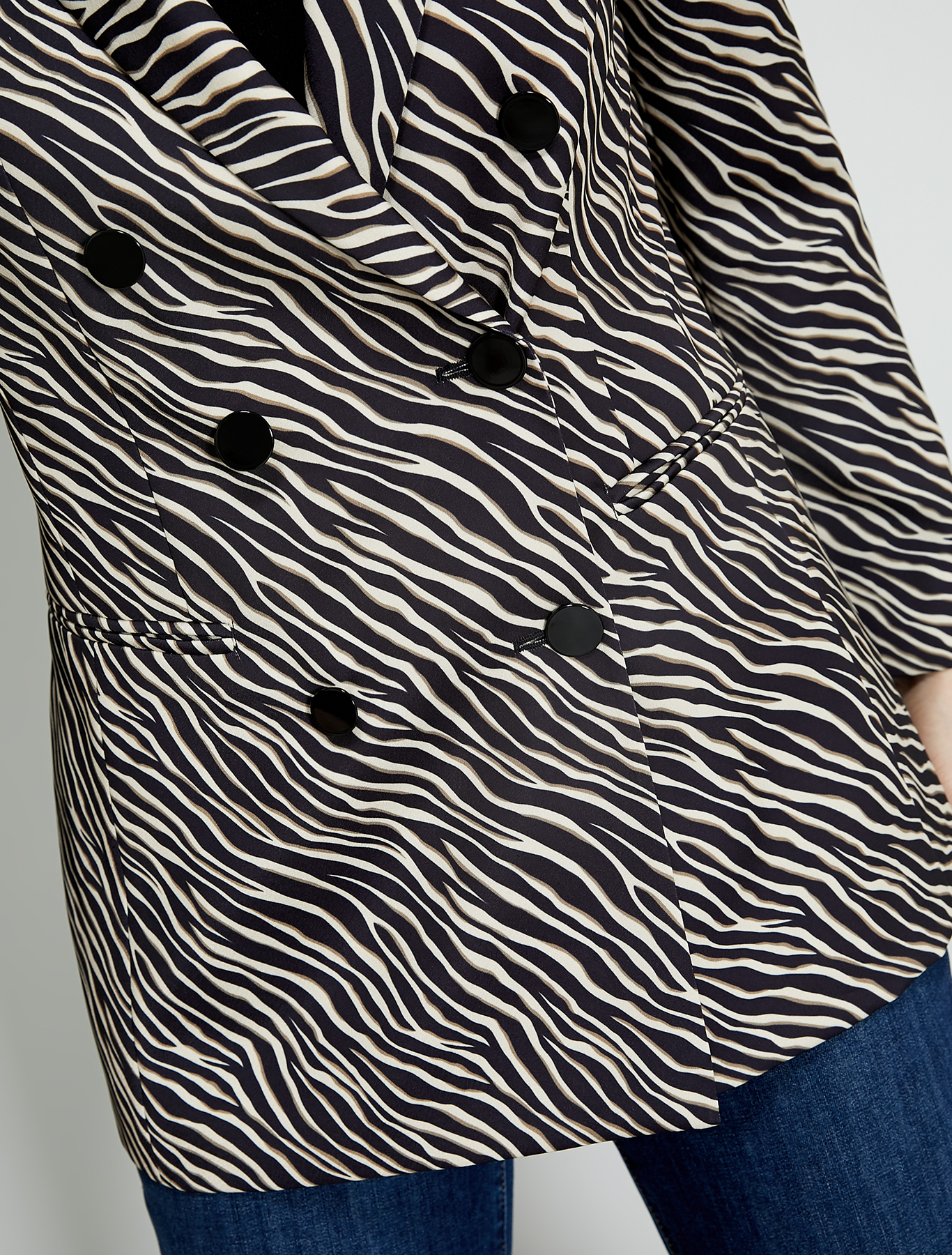 Envers satin blazer - dark brown pattern - pennyblack