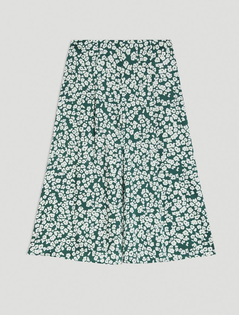 Twill culottes - green pattern - pennyblack