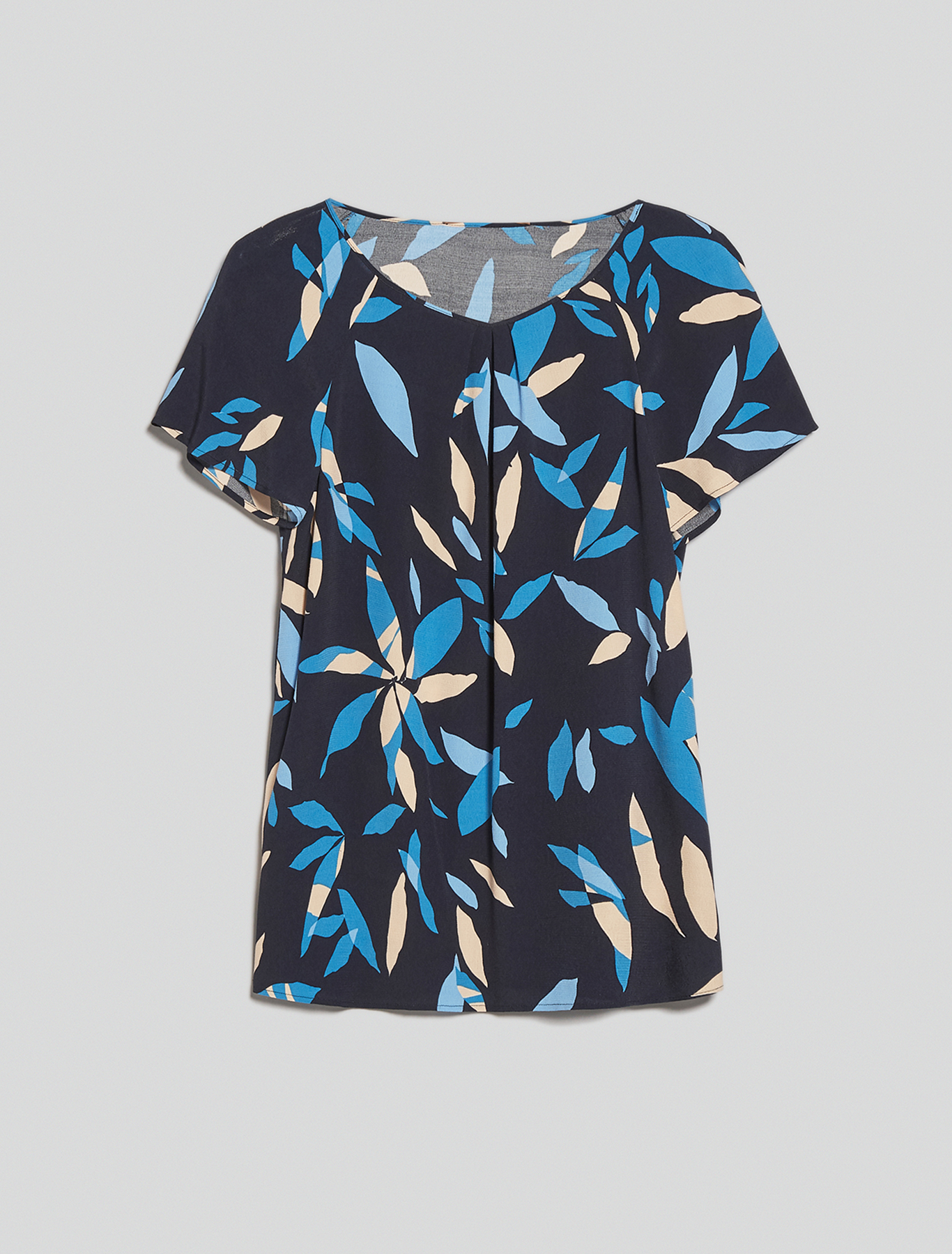 Printed sablé blouse - navy blue pattern - pennyblack
