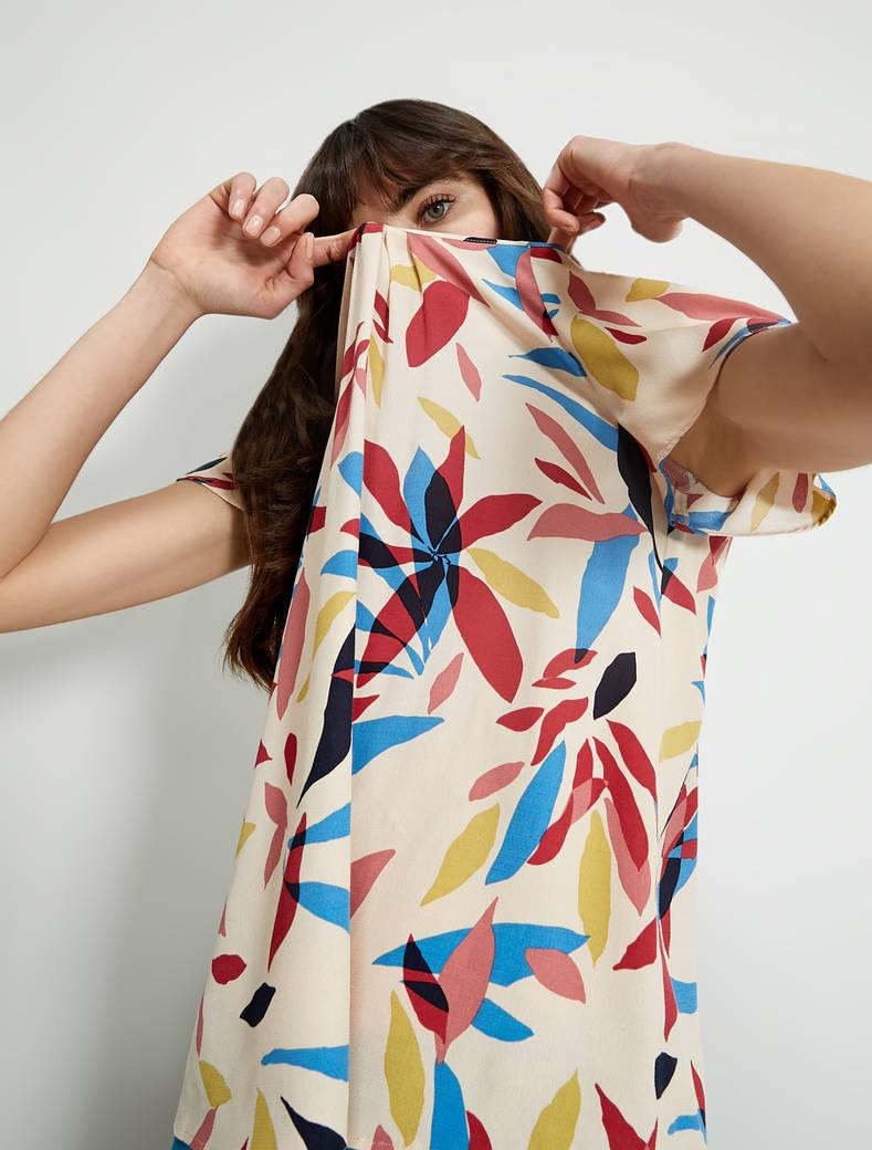 Printed sablé blouse - beige pattern - pennyblack