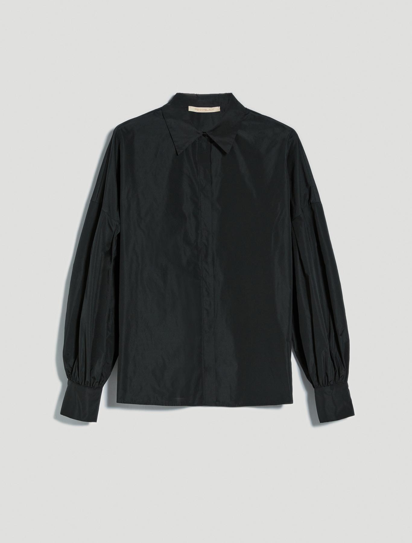 Shirt with balloon sleeves - black - pennyblack