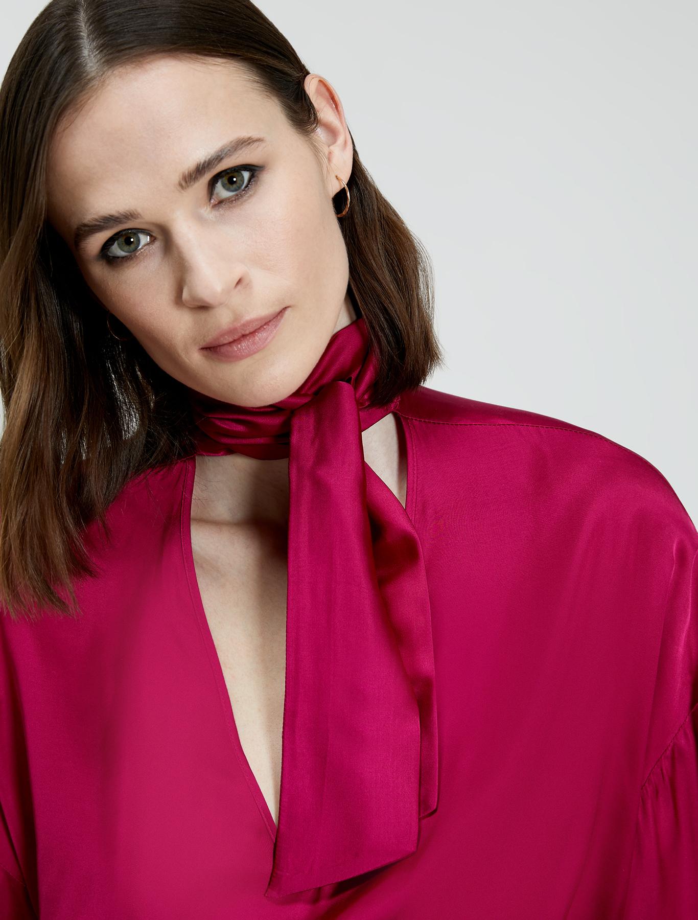 Fluid satin blouse - fuchsia - pennyblack