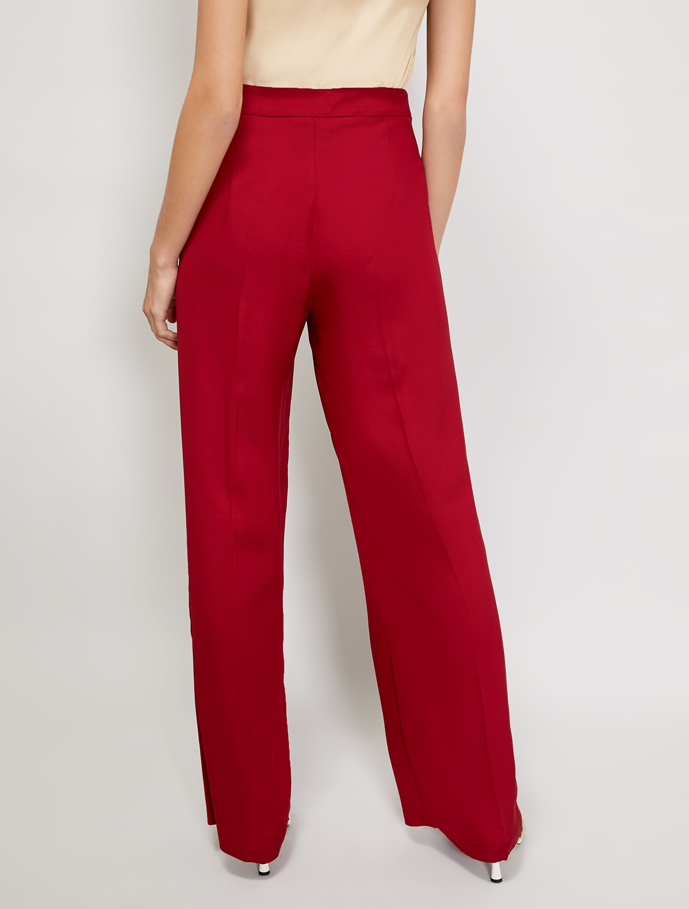 Flowing cady trousers - burgundy - pennyblack