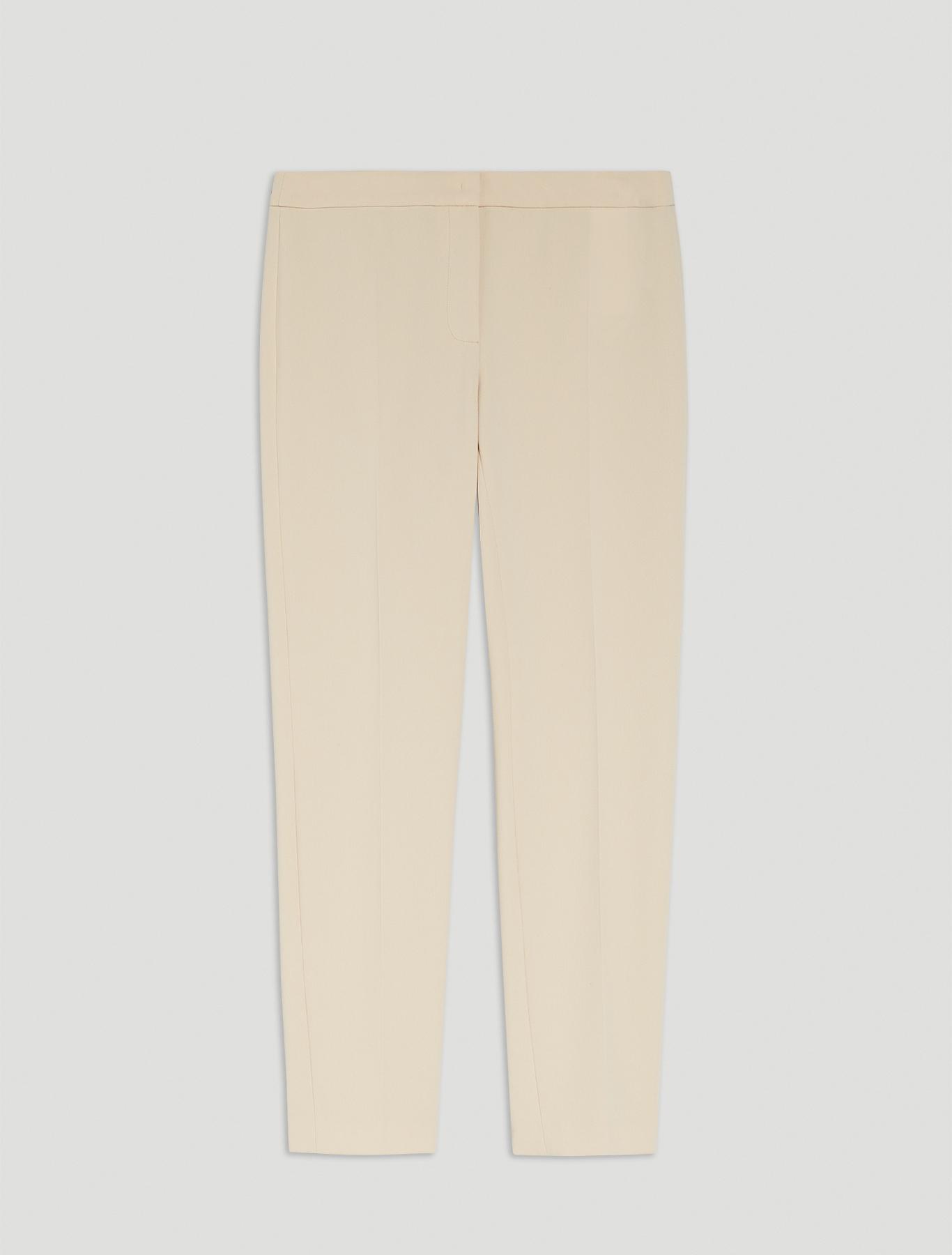Slim-fit trousers in flowing fabric - beige - pennyblack