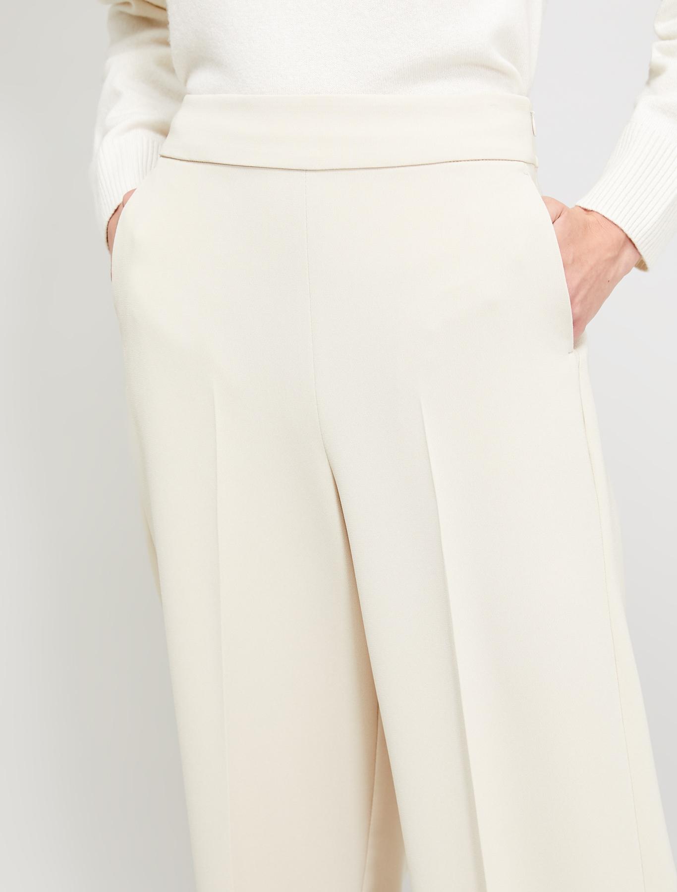 Flowing fabric wide-leg trousers - beige - pennyblack