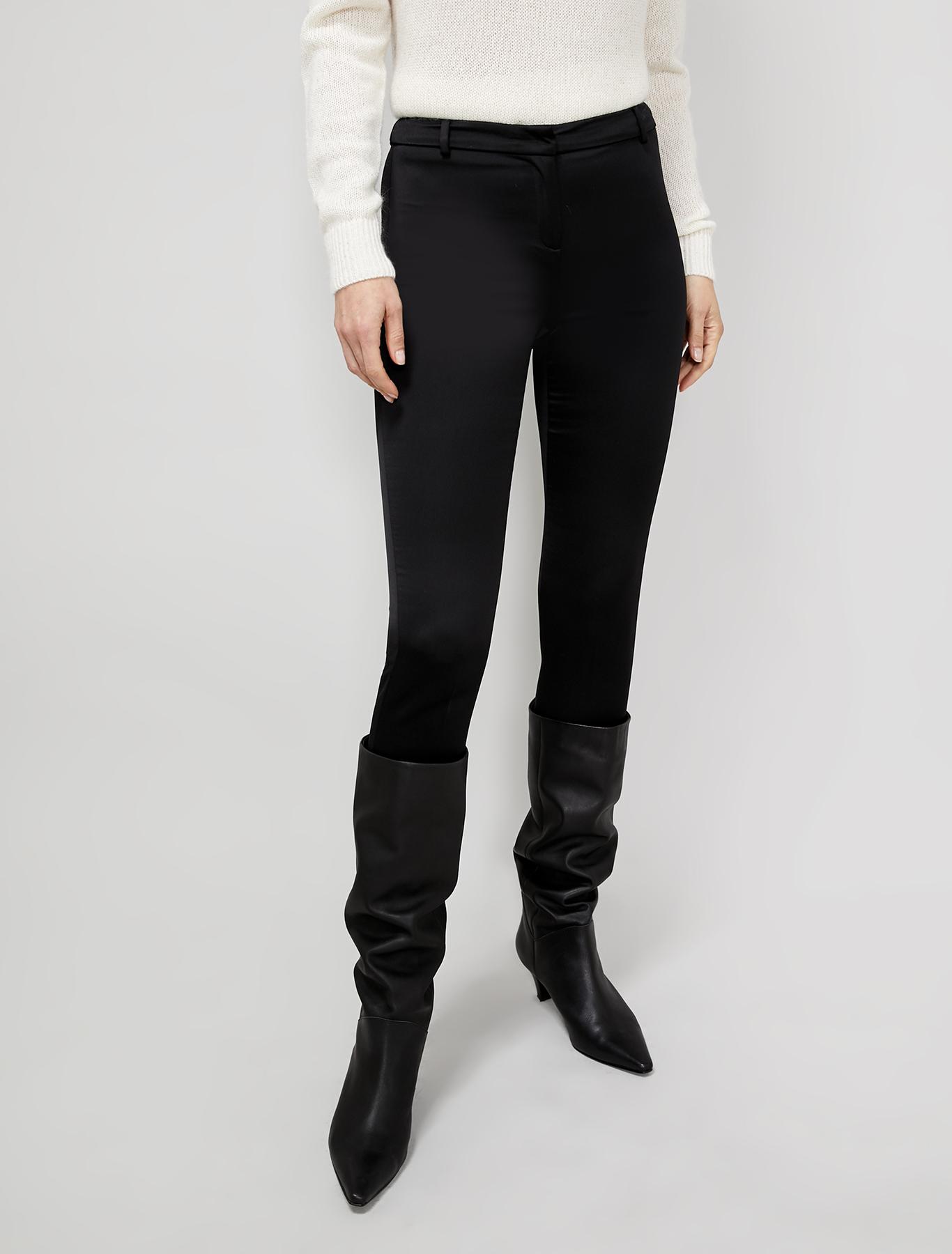 Envers satin trousers - black - pennyblack