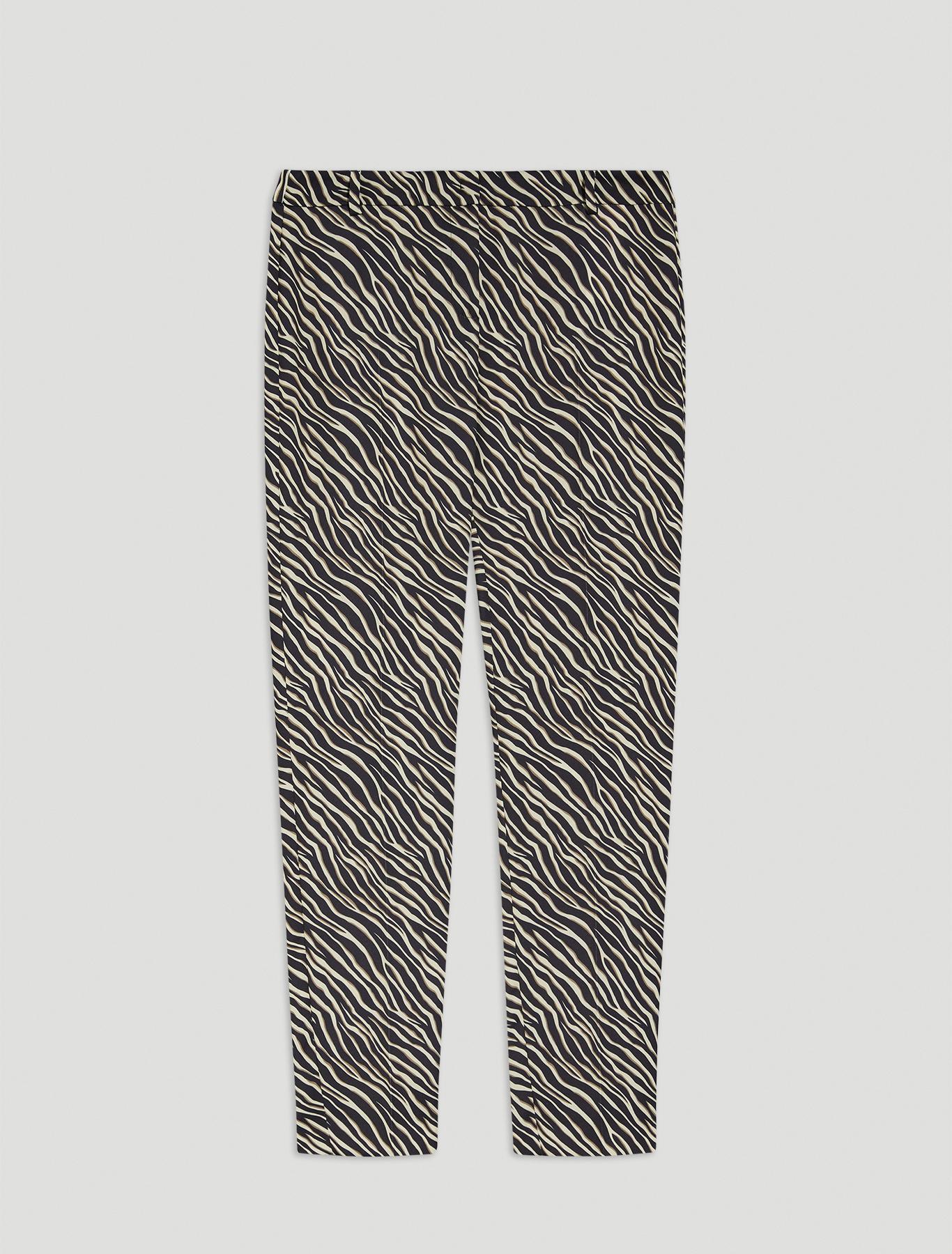 Envers satin trousers - dark brown pattern - pennyblack