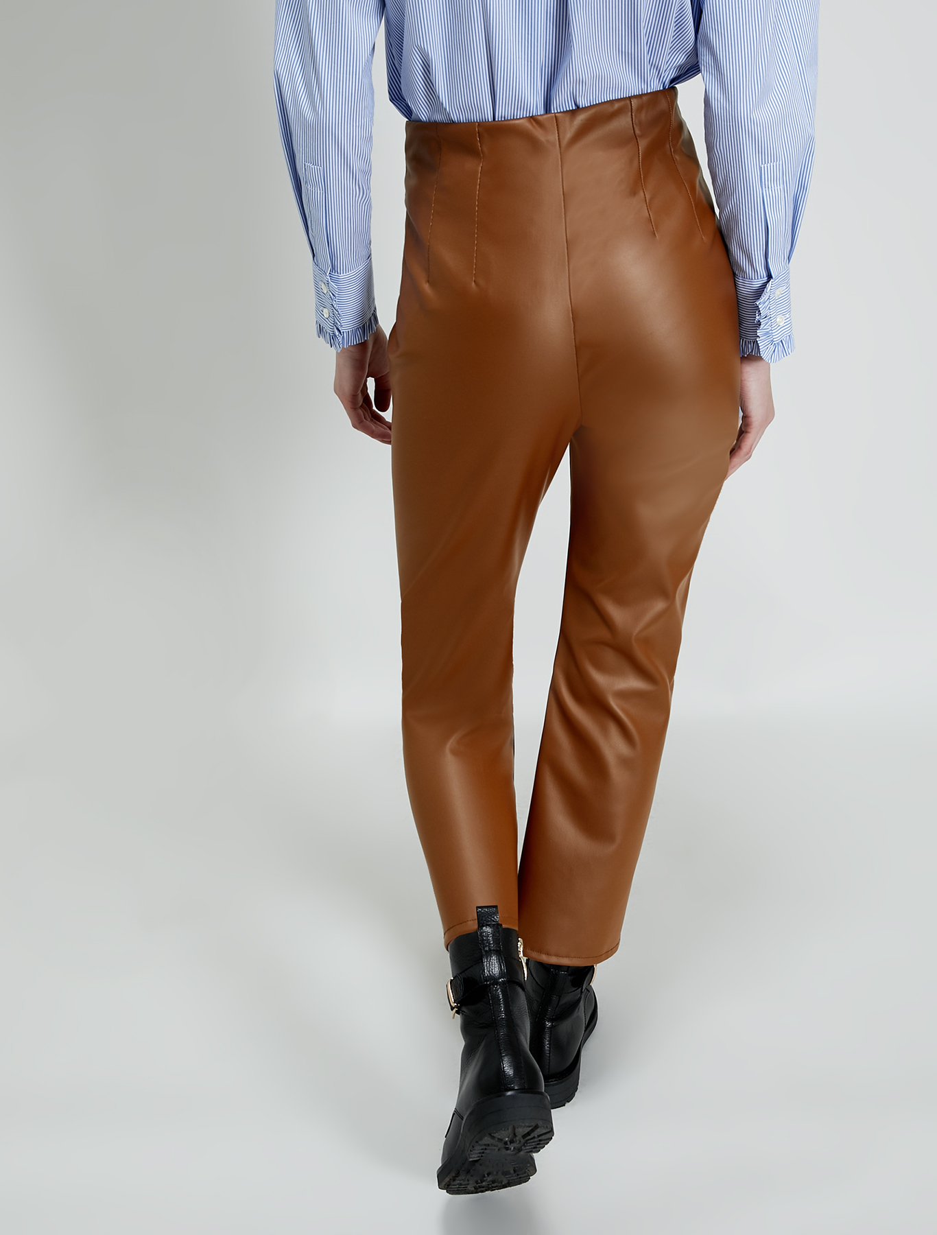 Jersey coated trousers - camel - pennyblack
