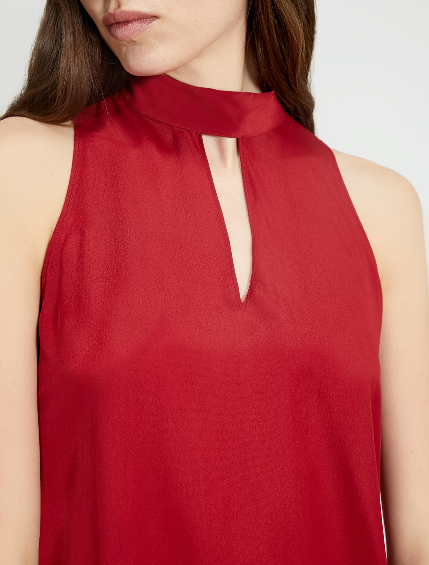 Crêpe de Chine top - burgundy - pennyblack