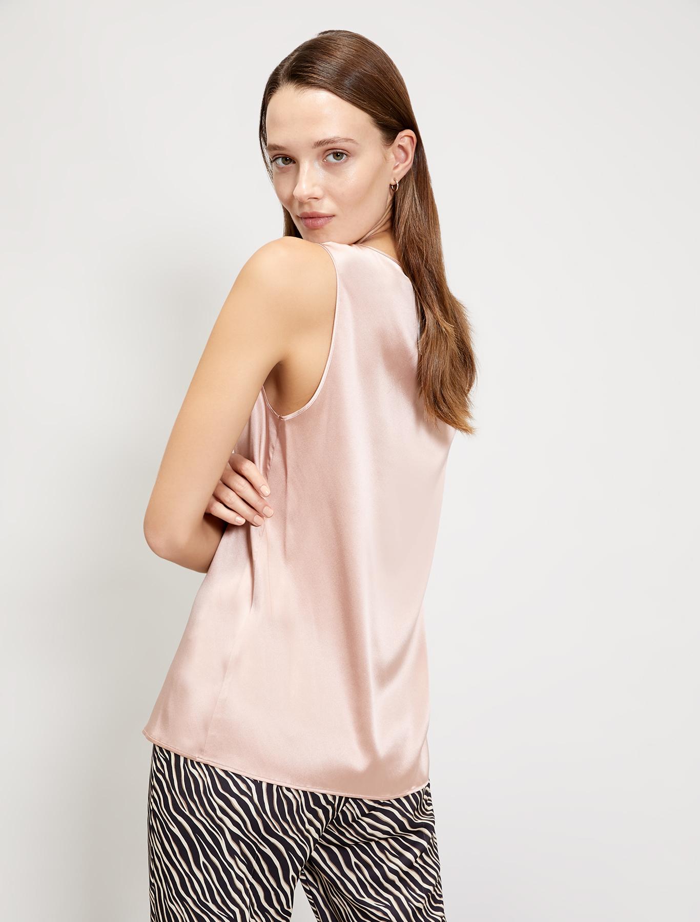 Silk satin top - pink - pennyblack