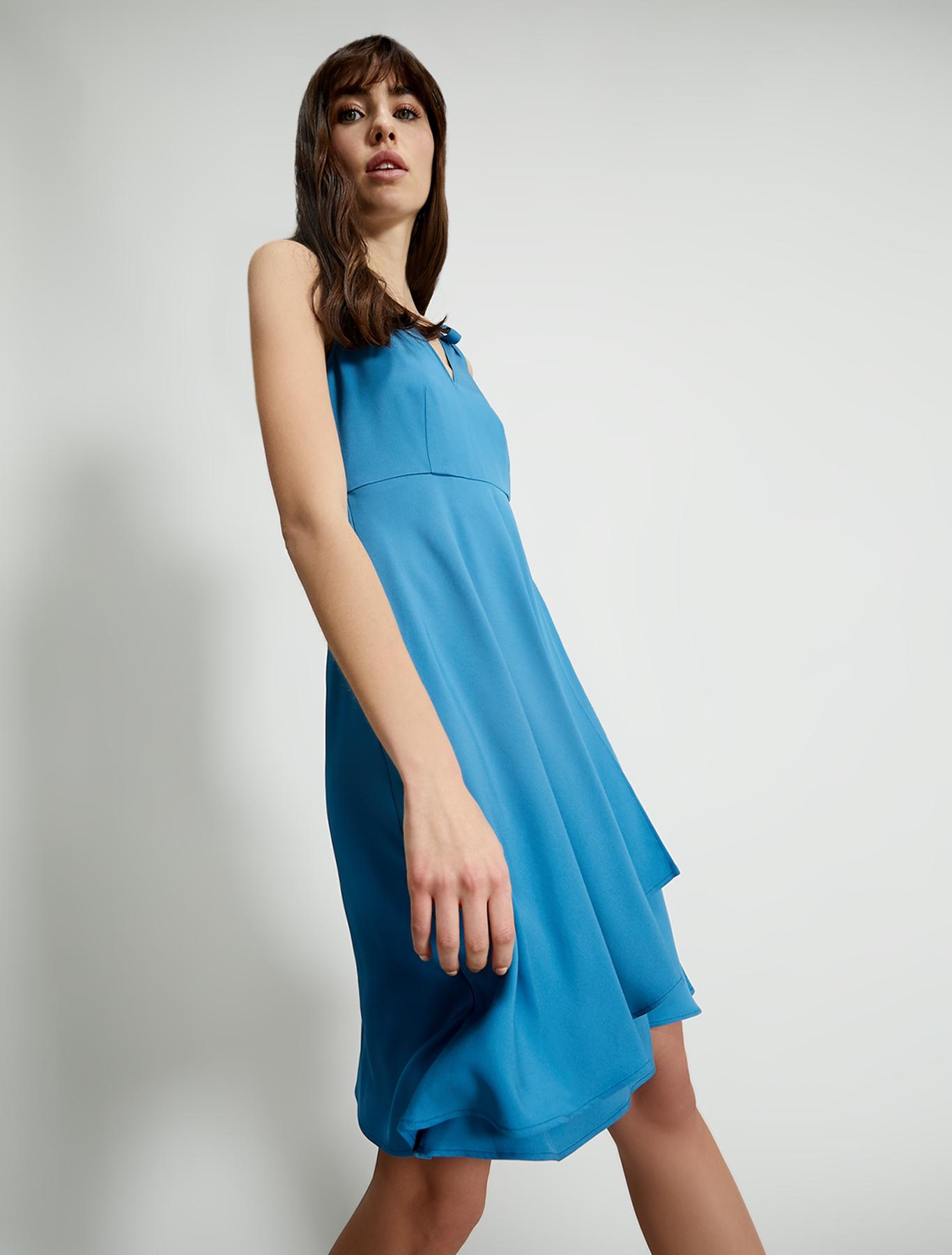 Cady dress with flounce - china blue - pennyblack