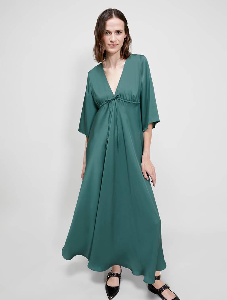 Long twill dress - olive green - pennyblack