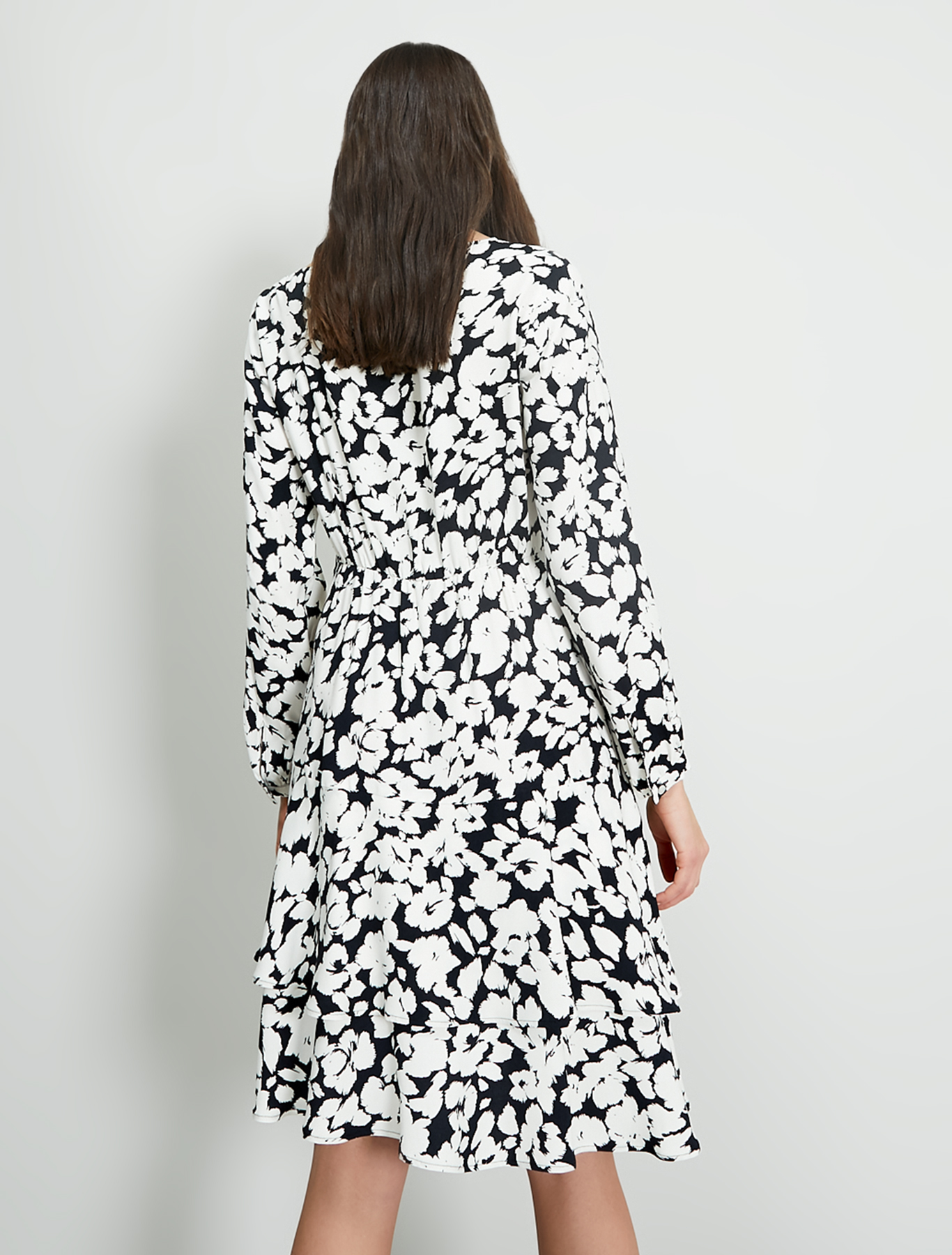 Black & white sablé dress - black pattern - pennyblack