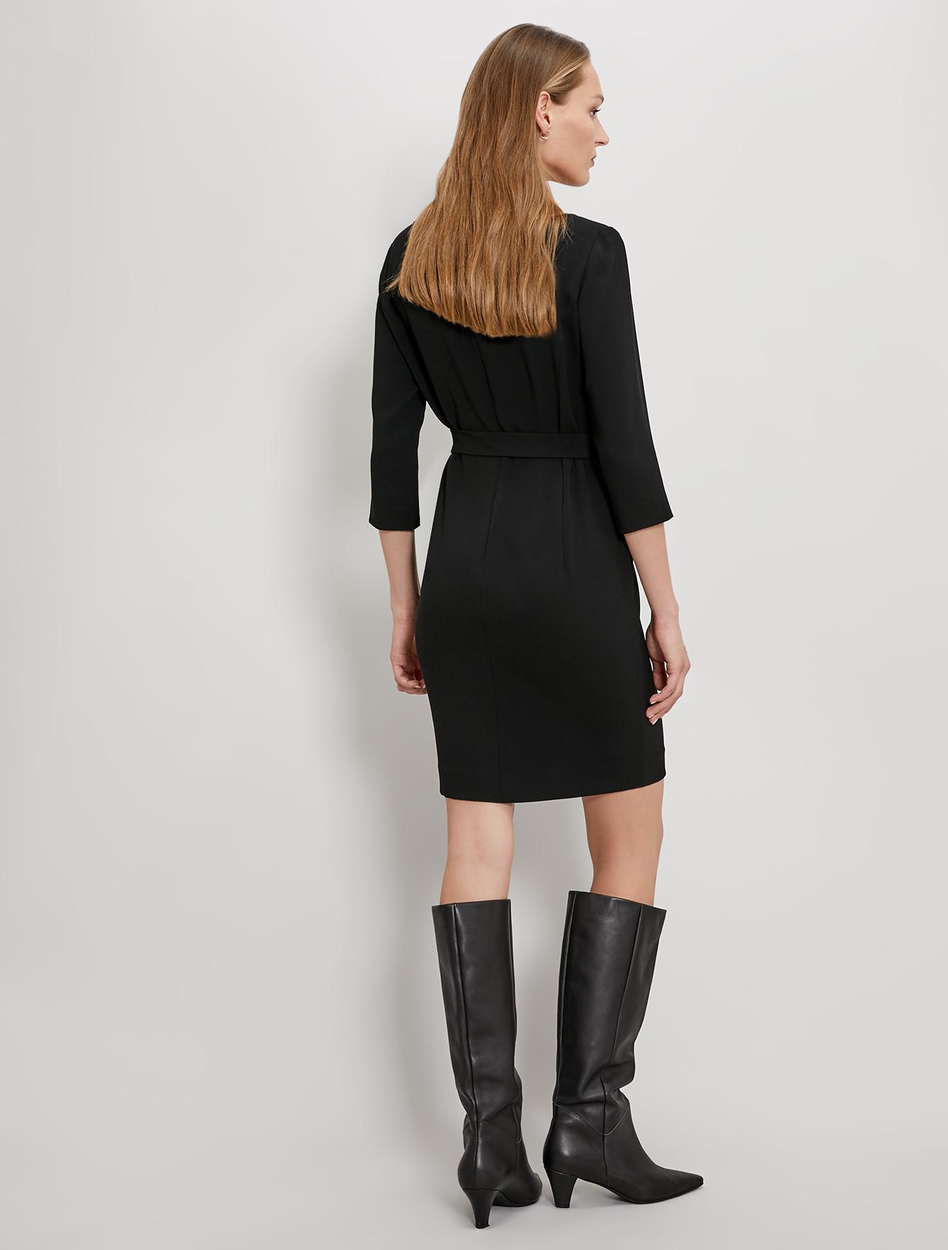 Pencil dress in fluid fabric - black - pennyblack