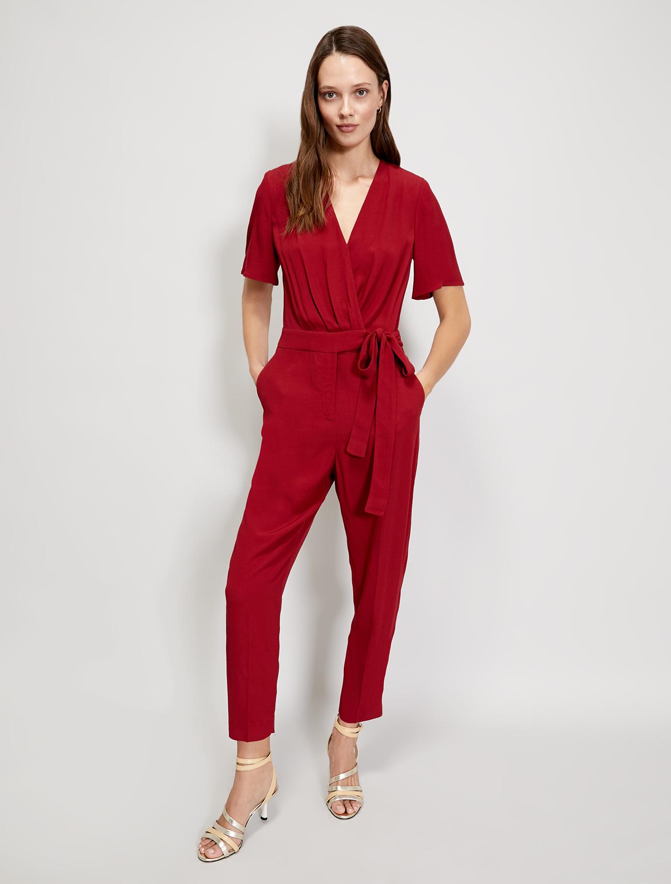 Sablé jumpsuit - burgundy - pennyblack