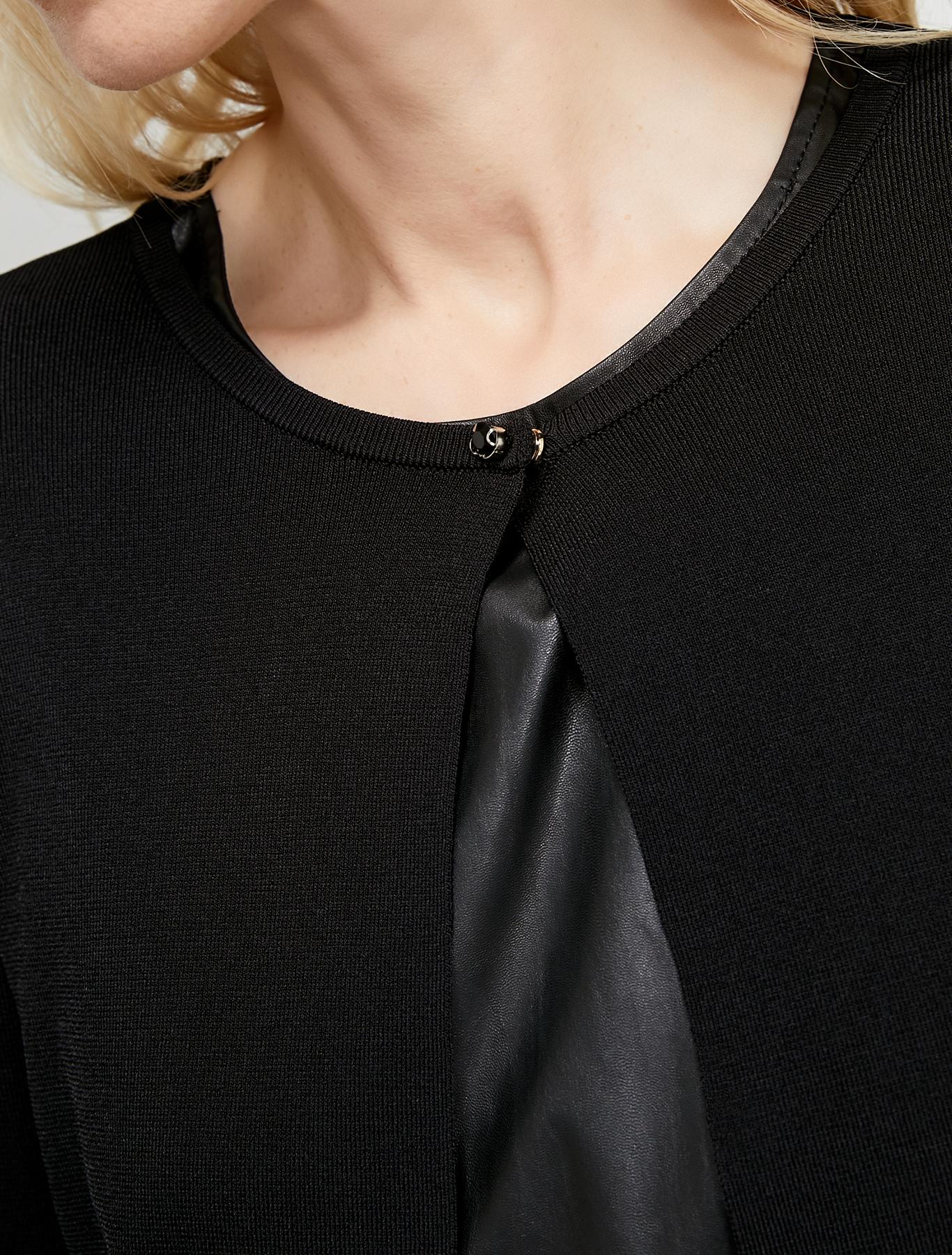 Cardigan with bijou button - black - pennyblack